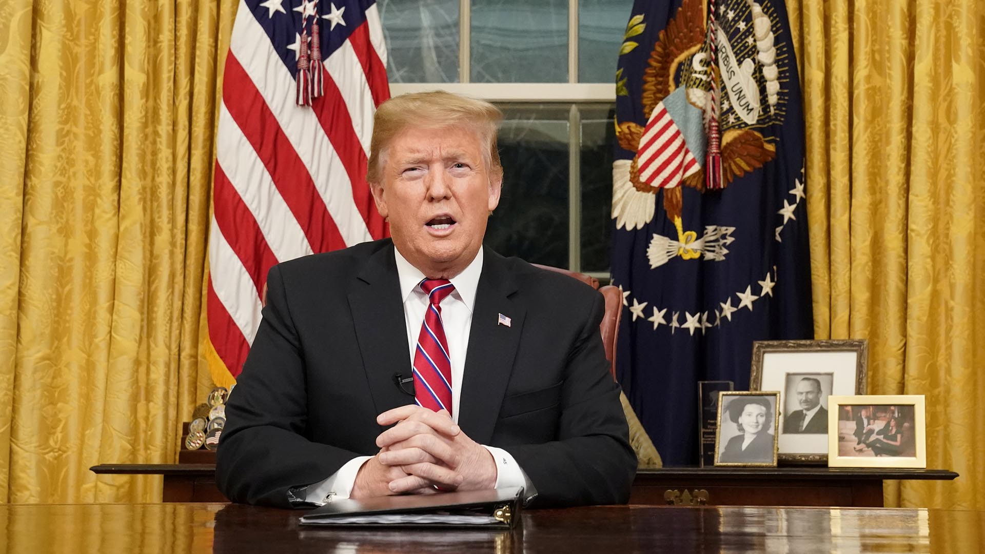 Donald Trump, presidente de EEUU (REUTERS/Carlos Barria/Pool)