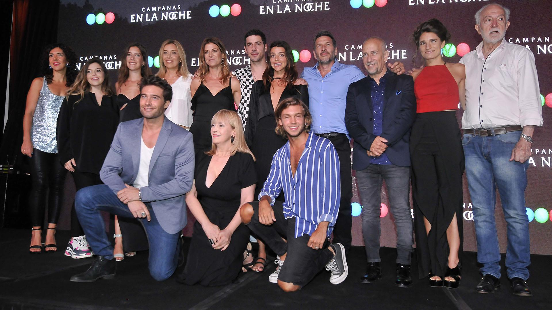 """El elenco de """"Campanas en la noche"""" (Foto: Teleshow)"""