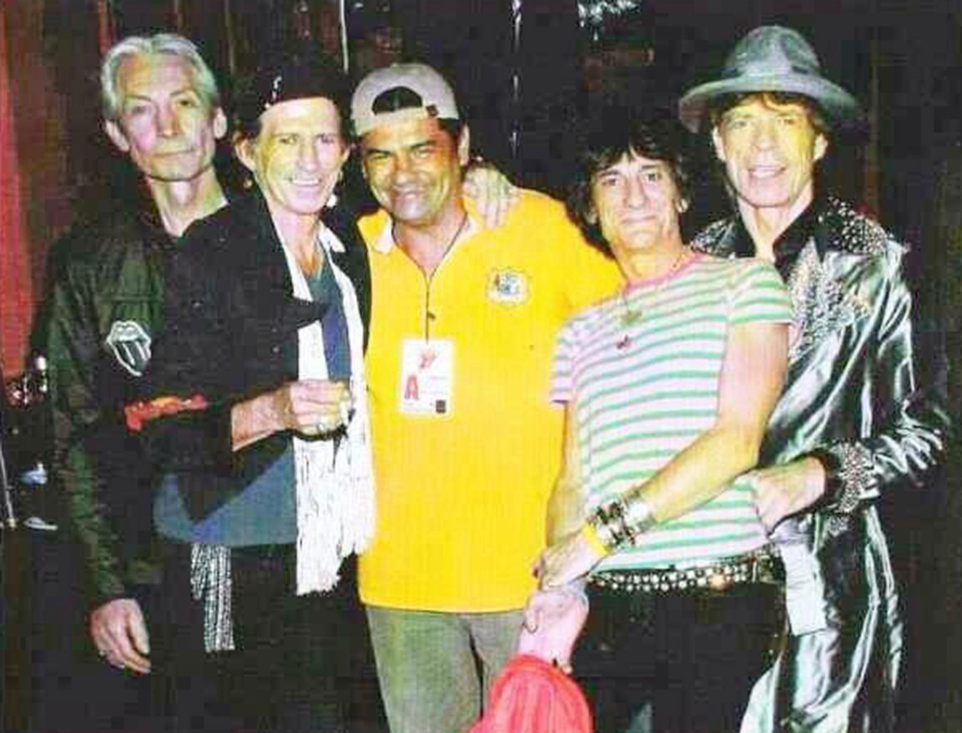 Alejandro Sokol con los Rolling Stones