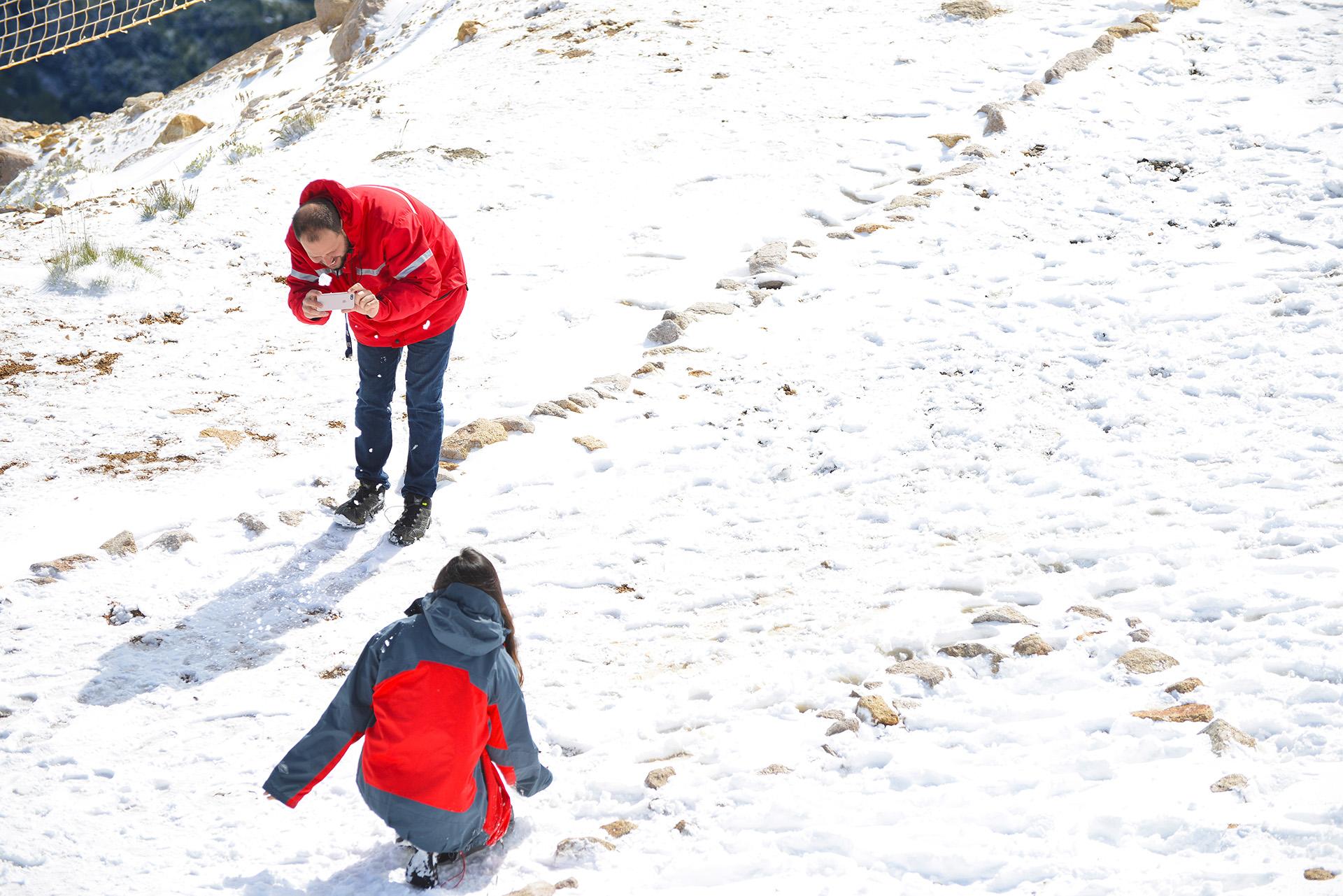 Por la nieve, el paso Pino Hachado tuvo que ser cerrado por algunas horas