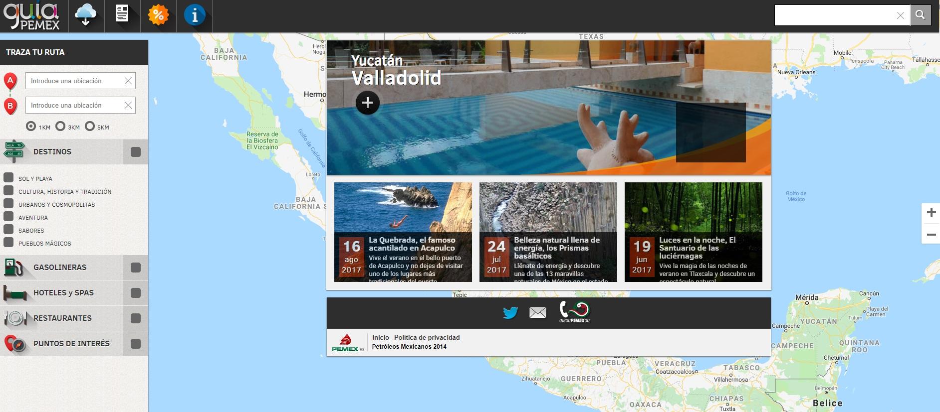 Guía Pemex, la aplicación oficial de Petróleos Mexicanos te ayuda a ubicar la gasolinera más cercana (Captura de pantalla)