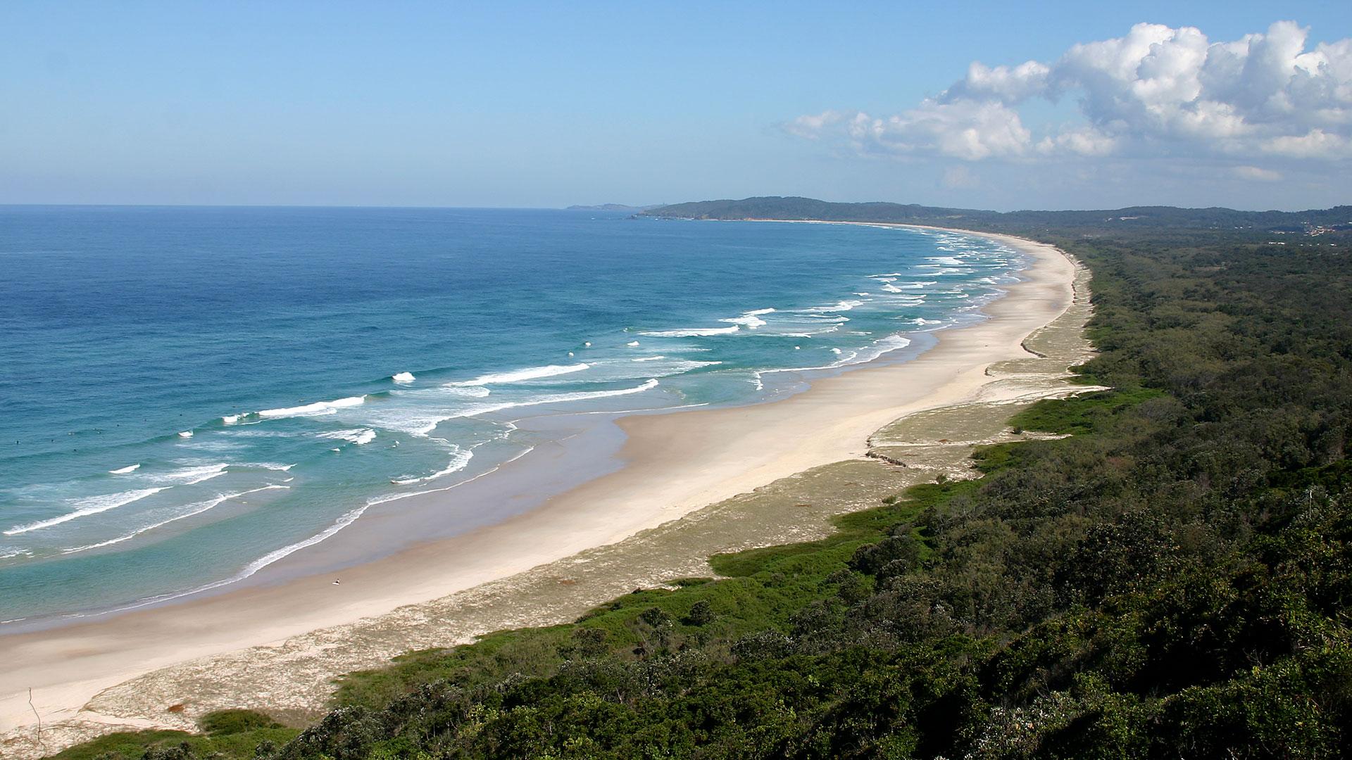 La exuberante costa, justo debajo de la frontera entre Nueva Gales del Sur y Queensland, se conoce como los ríos del Norte gracias al sistema de mareas que serpentea a través de él