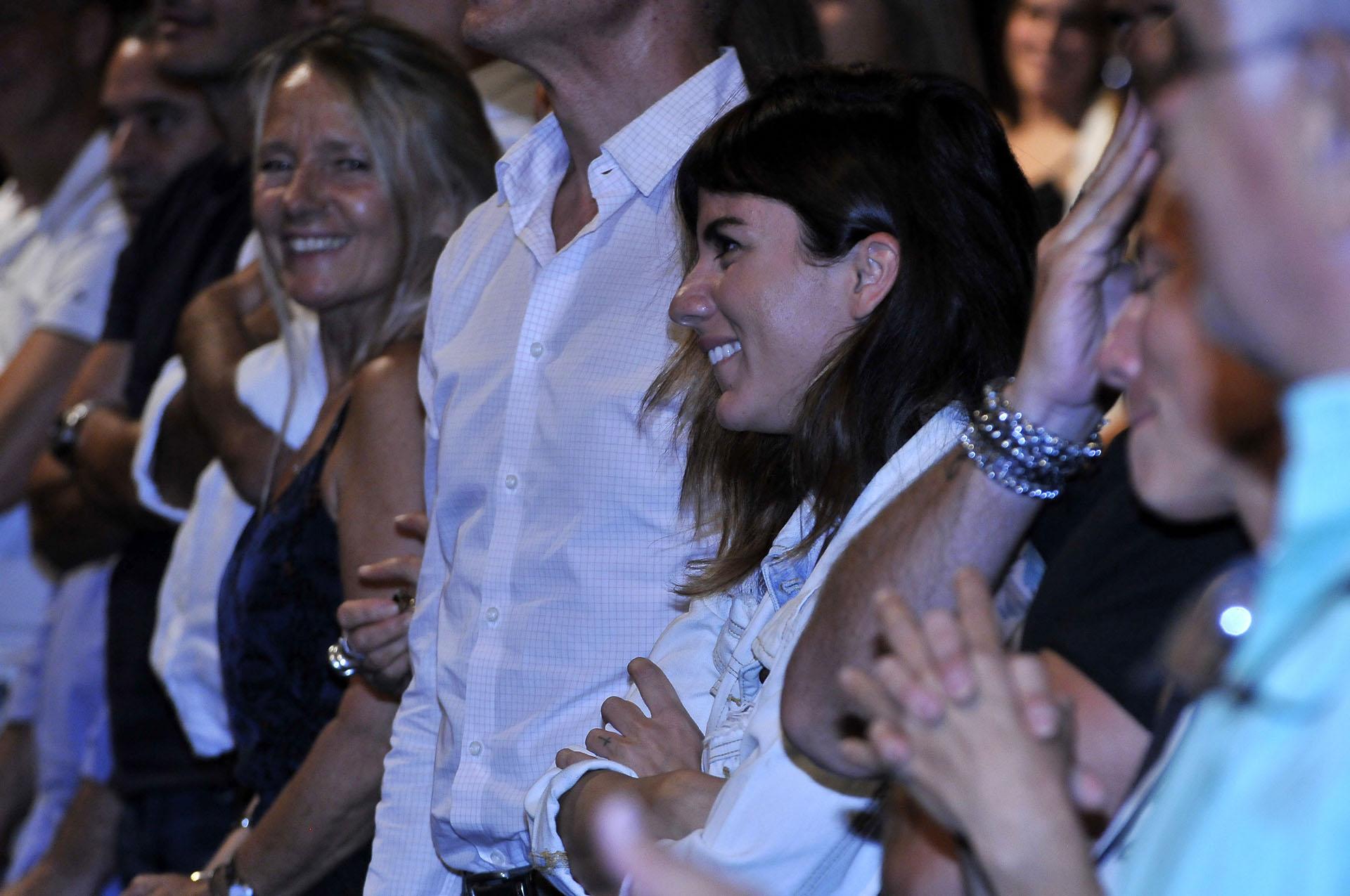Gimena Accardi, entre el público para aplaudir a su marido