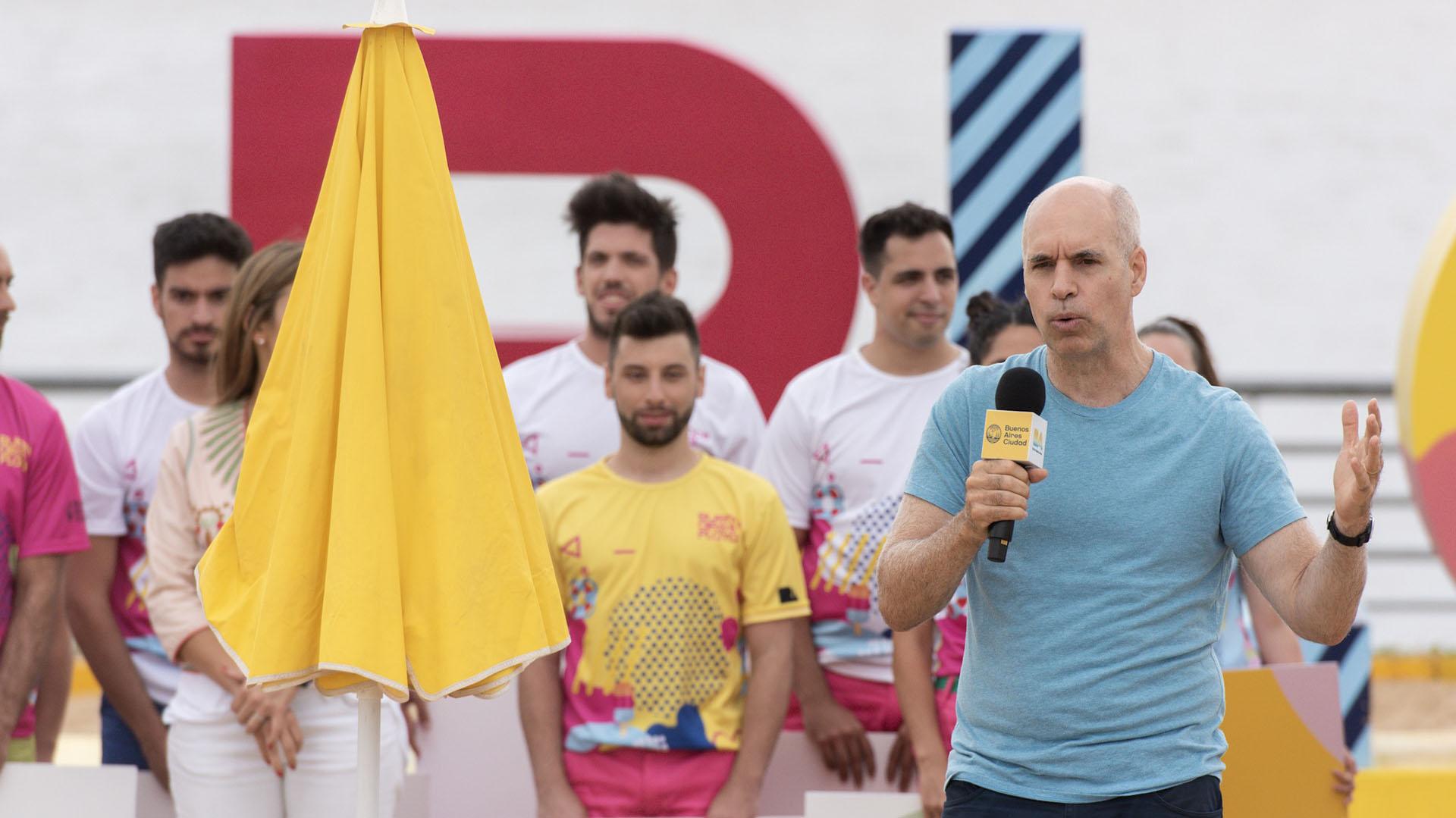 El Jefe de Gobierno porteño, Horacio Rodríguez Larreta, en la inauguración de la temporada 2019