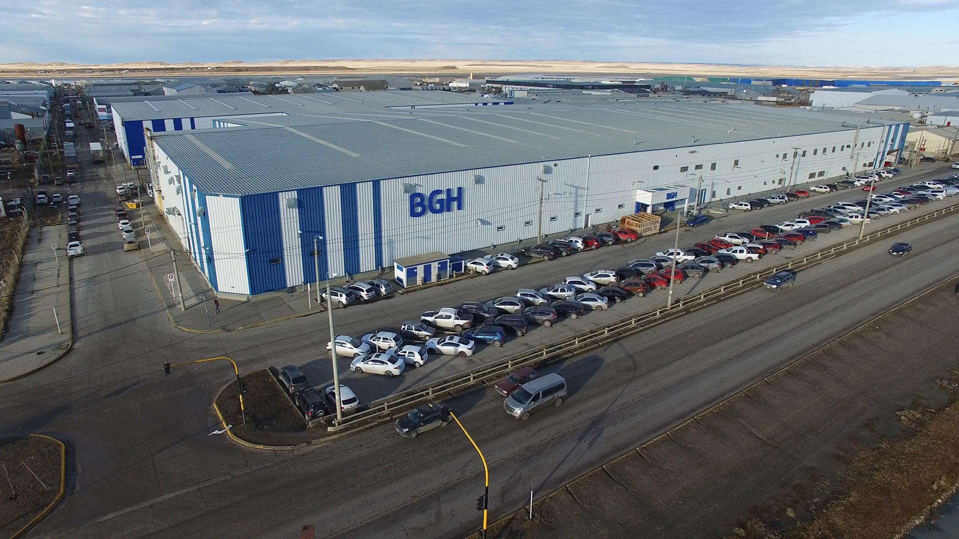 La planta de la empresa en Tierra del Fuego