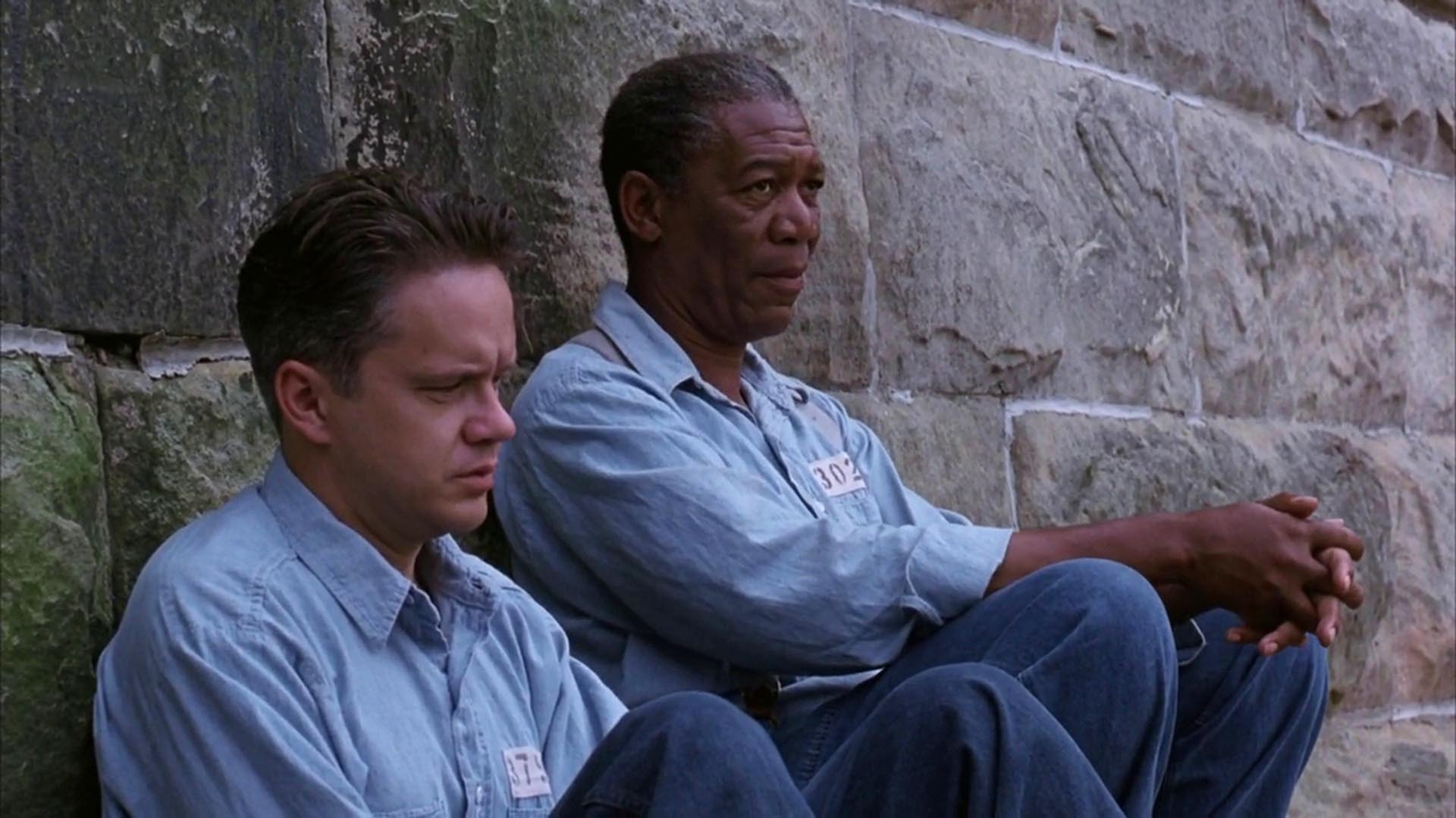 "En ""The Shawshank Redemption"" junto a Morgan Freeman"