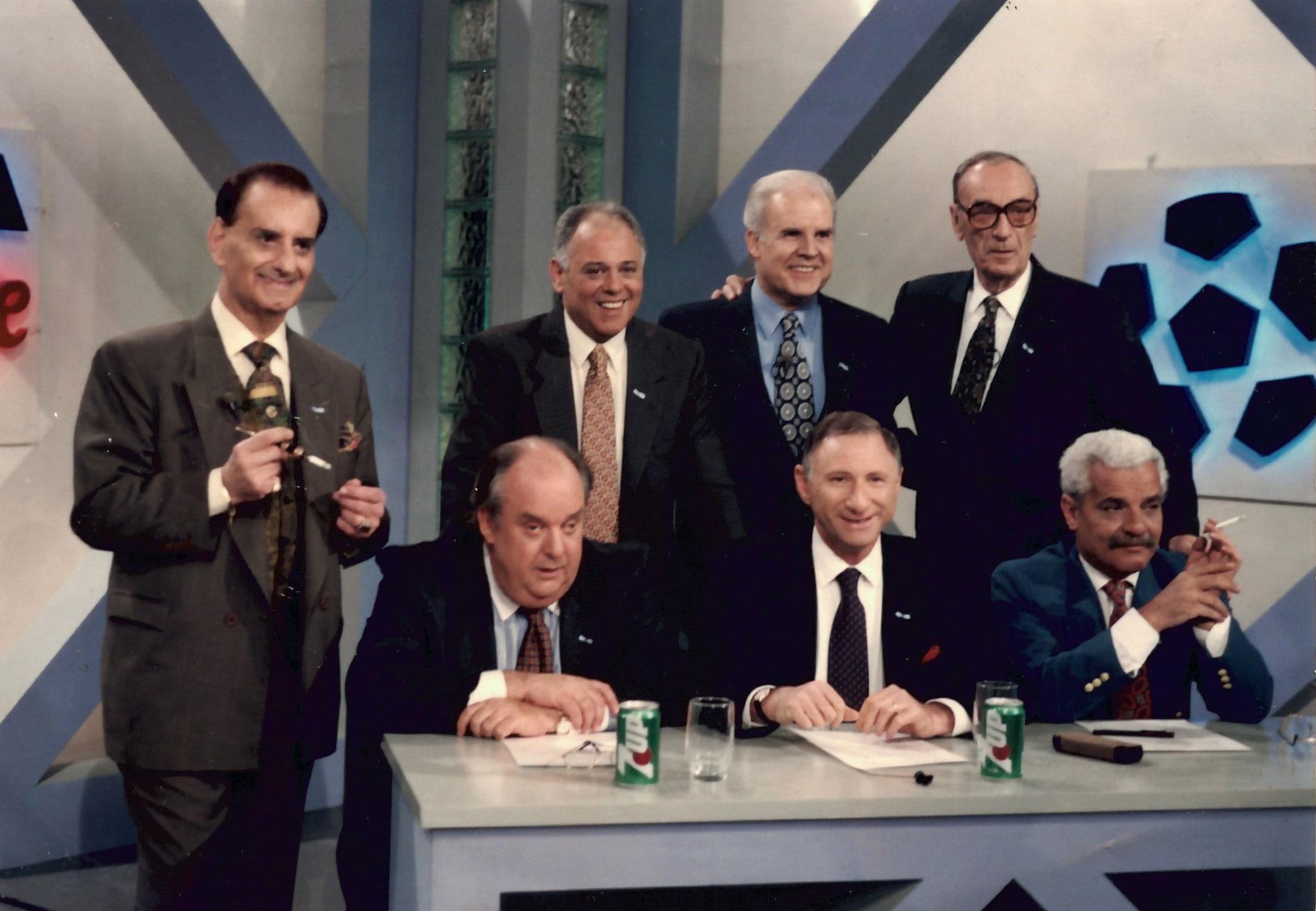 Guillermo Nimo, Roberto Ayala, Julio Ricardo, Tony Carrizo. Garcia Blanco, Ernesto Cherquis Bialo y Carlos Juvenal