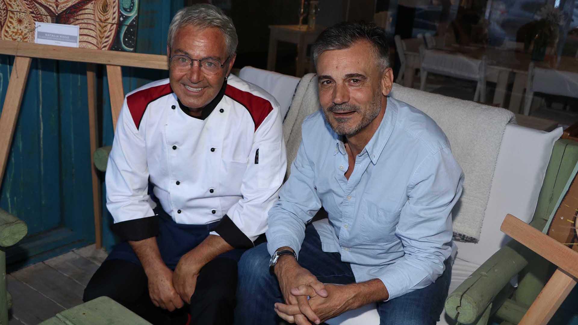 El chef ejecutivo, Alessandro Tridenti, junto a Jorge Vázquez (Foto: Matías Souto)