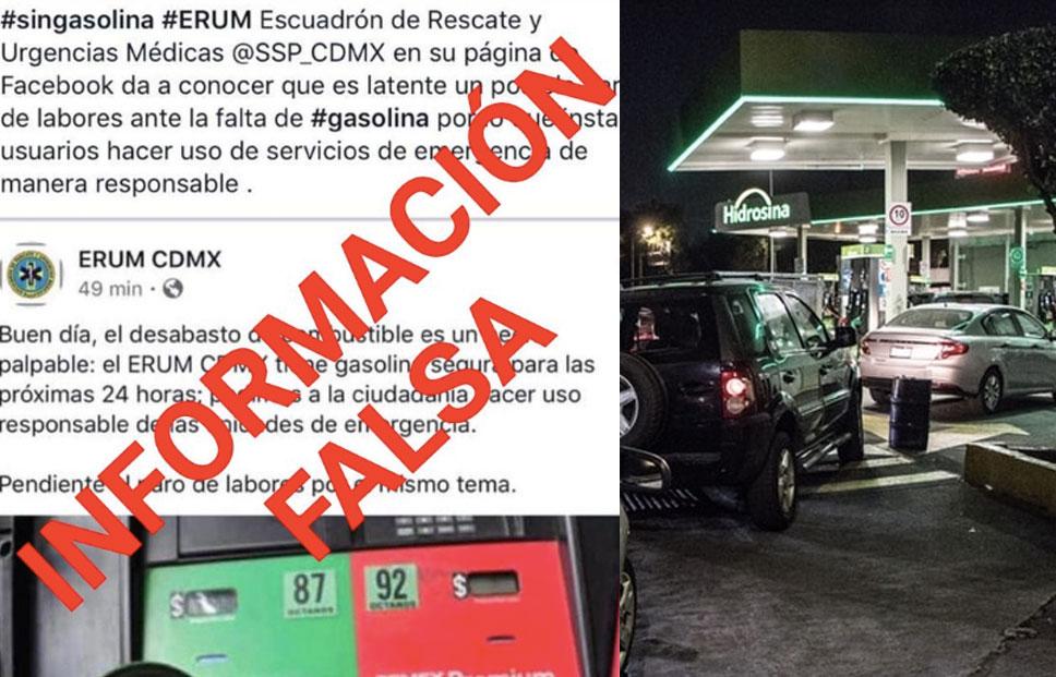 Alberto Escorcia advirtió que la desinformación podría provocar violencia ante el desabasto de gasolina (Foto: Twitter, Cuartoscuro)