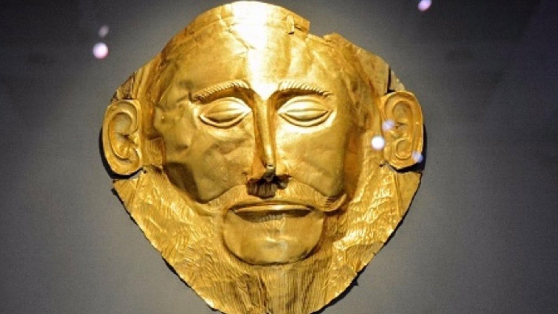La máscara de Agamenón, uno de los hallazgos en las ruinas de Troya.