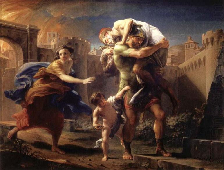 Eneas, escapando de Troya en llamas, la escena que persiguió a Schliemann desde niño.