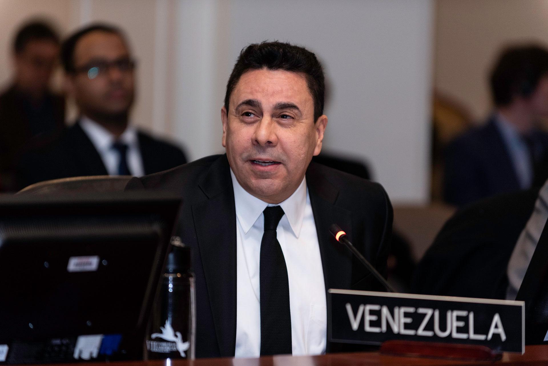 Samuel Moncada, el representante del régimen chavista ante la OEA