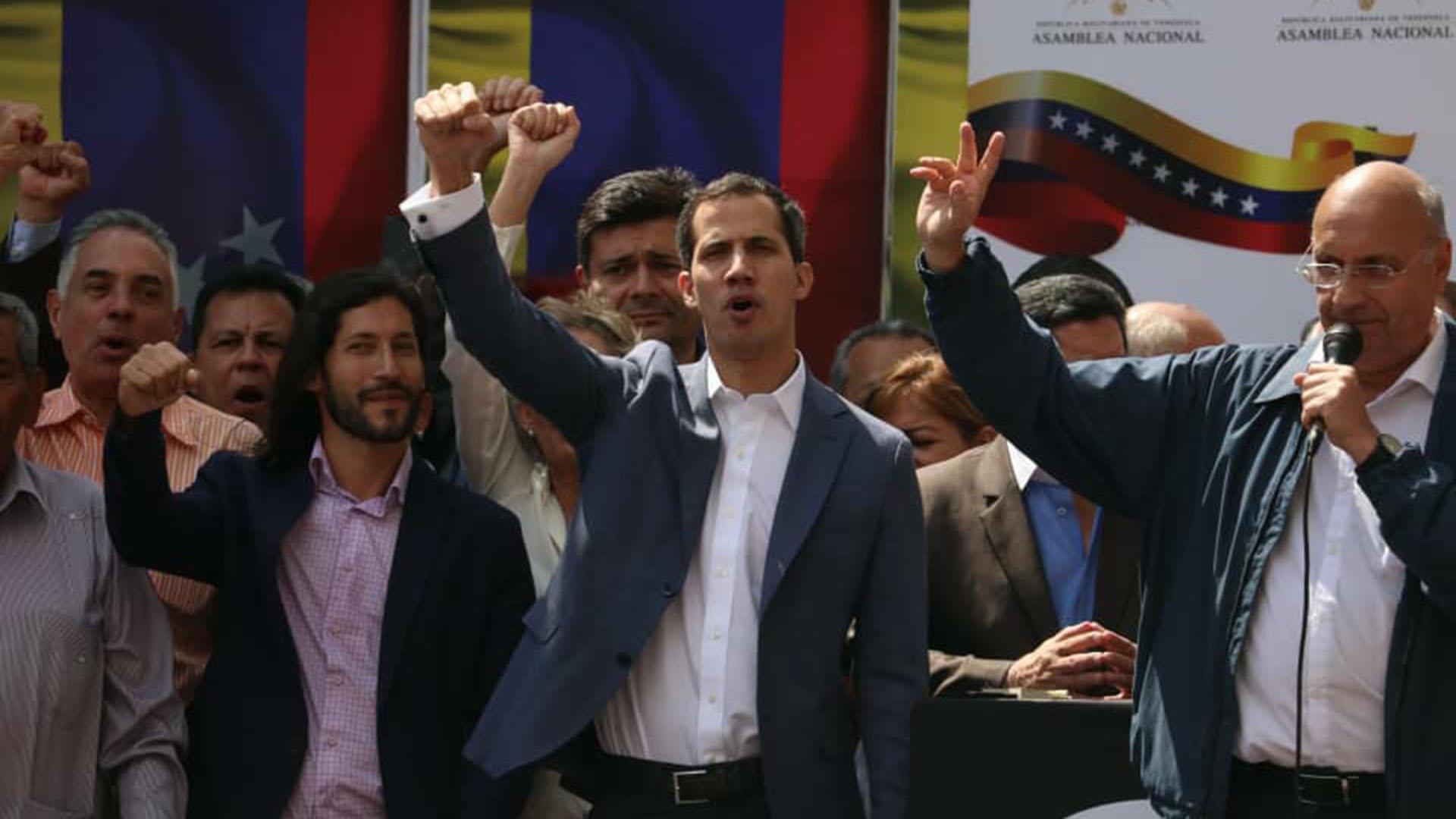 Juan Guaidó. presidnete de la Asamblea Nacional de Venezuela