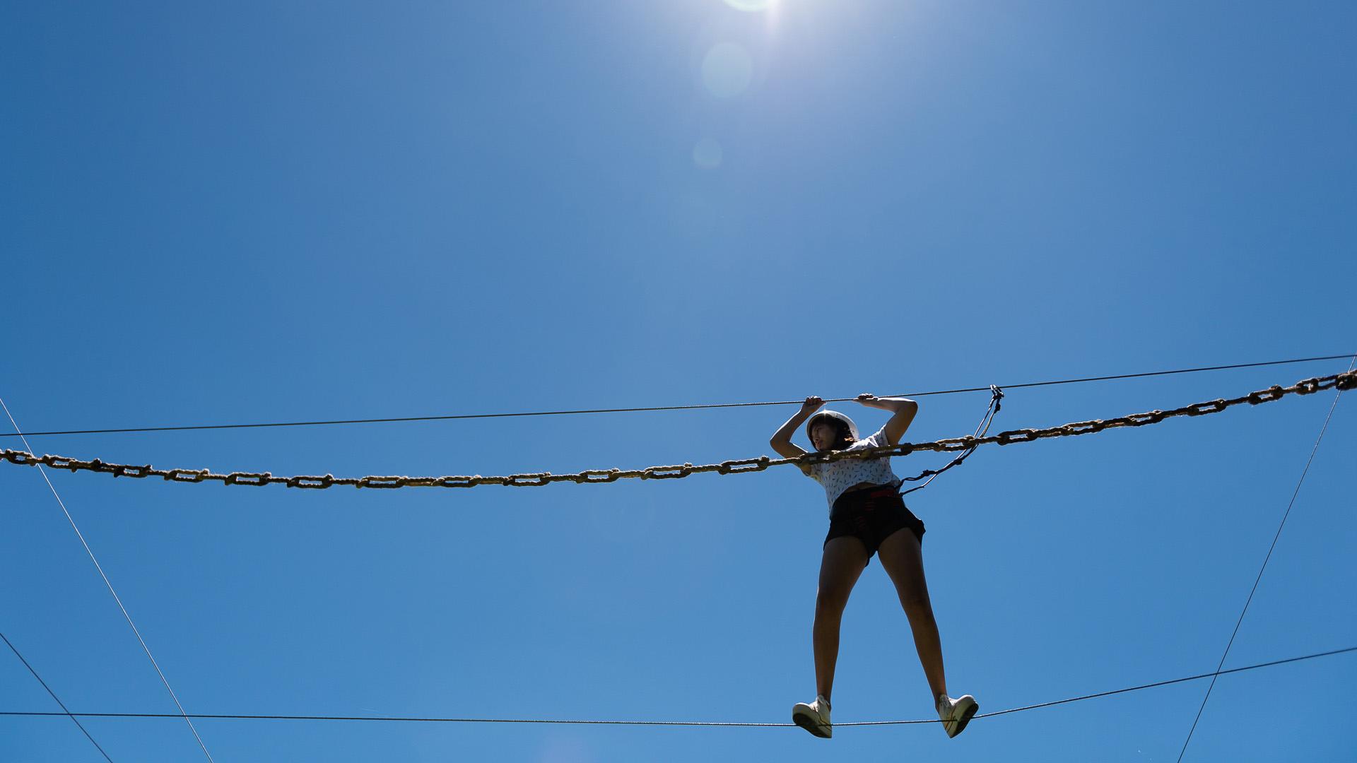 Estos juegos de altura no son recomendables para los chicos sino que apuntan más a la jóvenes