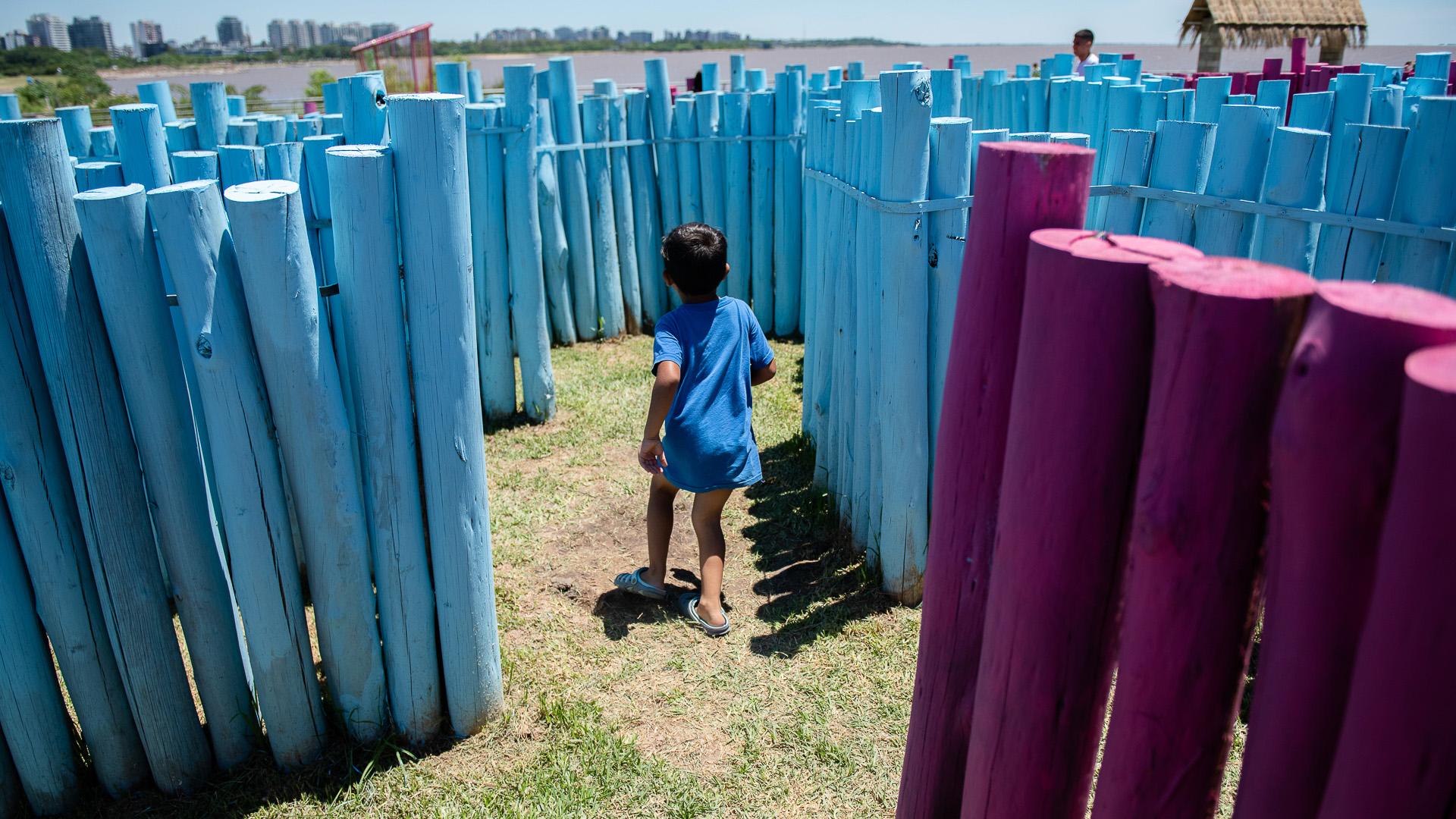 El laberinto gigante, otra de las principales atracciones de Buenos Aires Playa