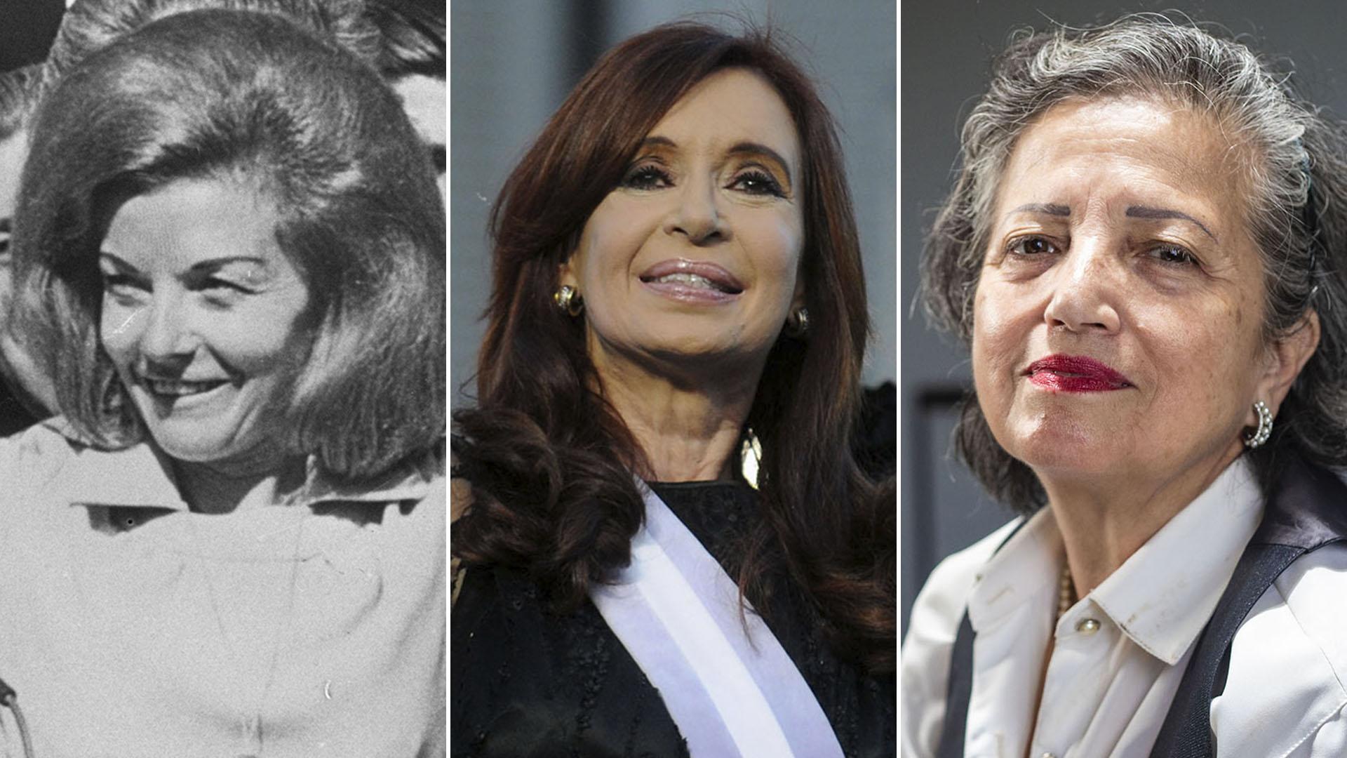 Viudas del peronismo… Isabelita Perón, Cristina Kirchner y María Elena Cisneros