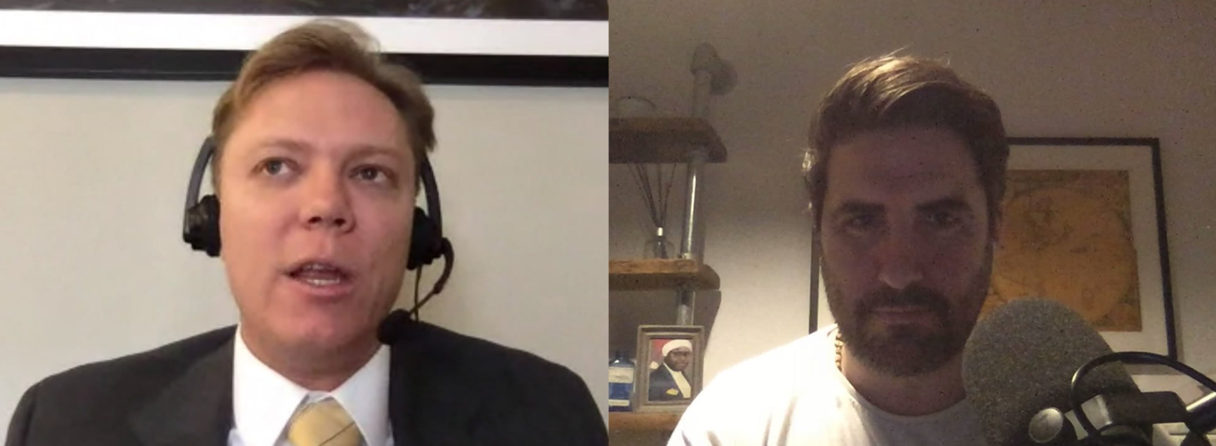 McCormack durante uno de los podcast (Foto: Twitter @PeterMcCormack)