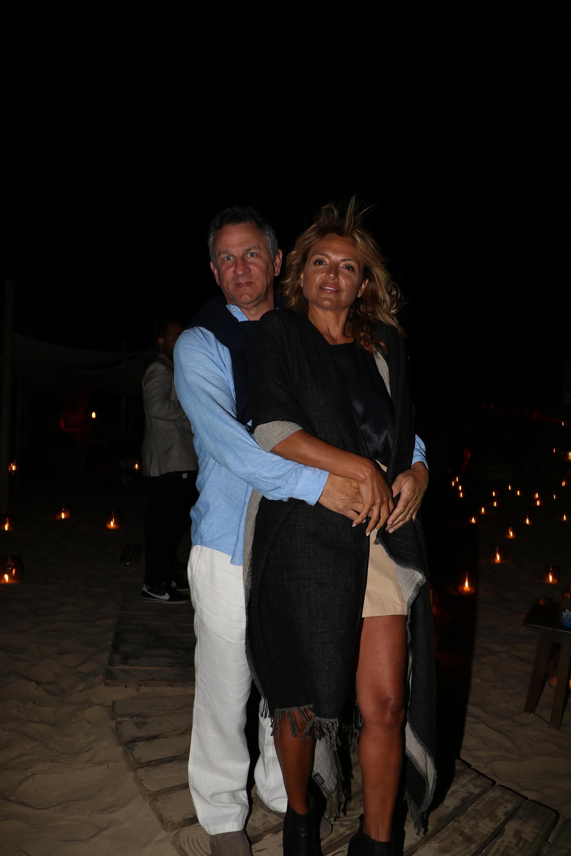 Fernán Saguier y su mujer Pamela Marcuzzi de Saguier