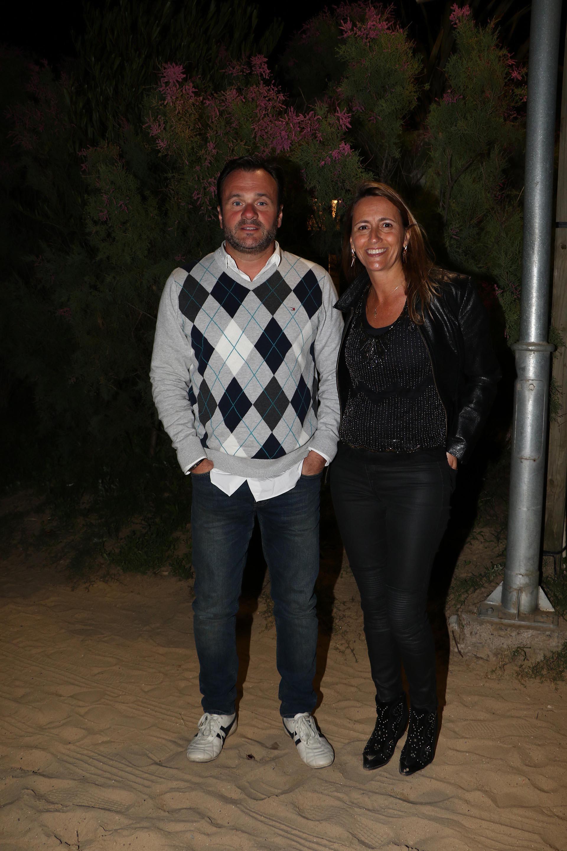 Juan Pablo Maglier, director de Relaciones Institucionales de La Rural, y su mujer Magdalena