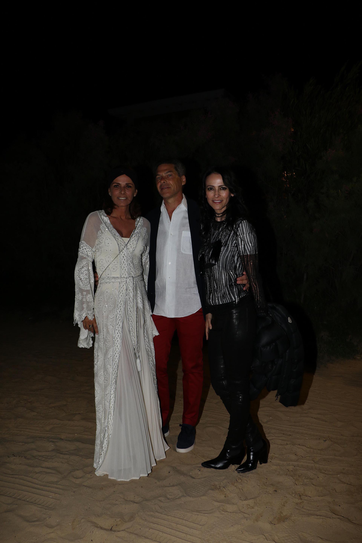 Nathalie y Calilo Sielecki junto a Cindy Teperman
