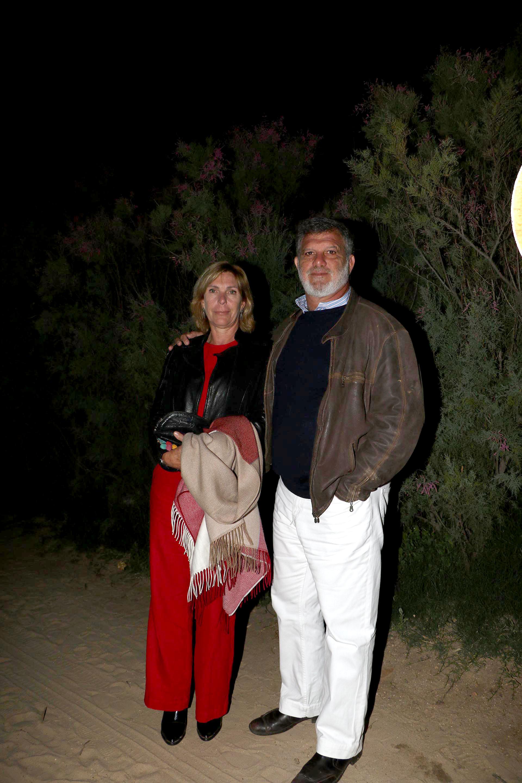 Gianfranco Macri y su mujer Eliane Badessich, a su llegada a la fiesta de HSBC en La Huella