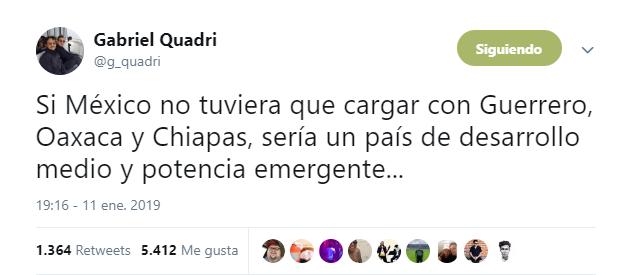 El ex candidato a la presidencia por el Partido Nueva Alianza (Panal) publicó un tuit polémico (Foto: Captura de pantalla)