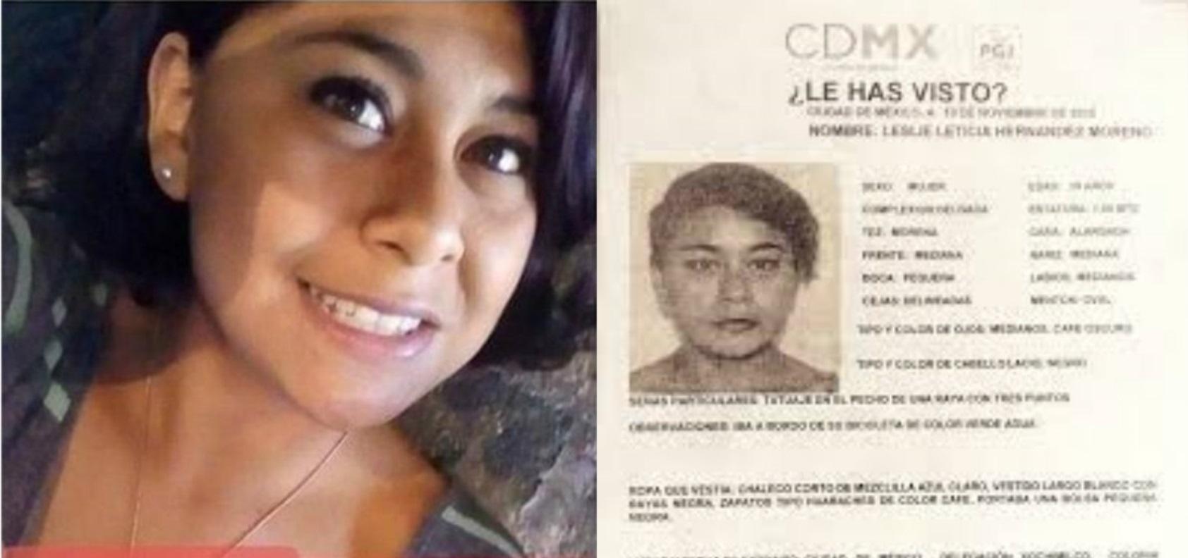 Leslye, quien tenía 18 años, fue hallada asesinada este jueves en un paraje de Xochimilco, la Universidad Autónoma de la Ciudad de México condenó el hecho y exigió su esclarecimiento