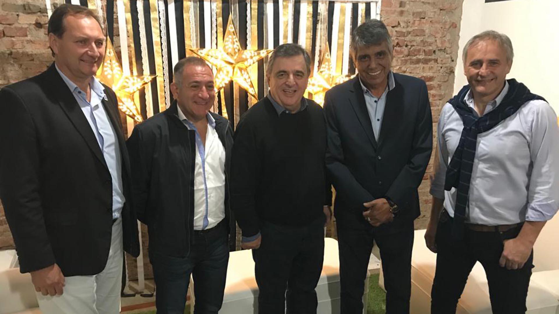 Mario Negri estuvo en Villa Allende con Héctor Baldassi y Luis Juez