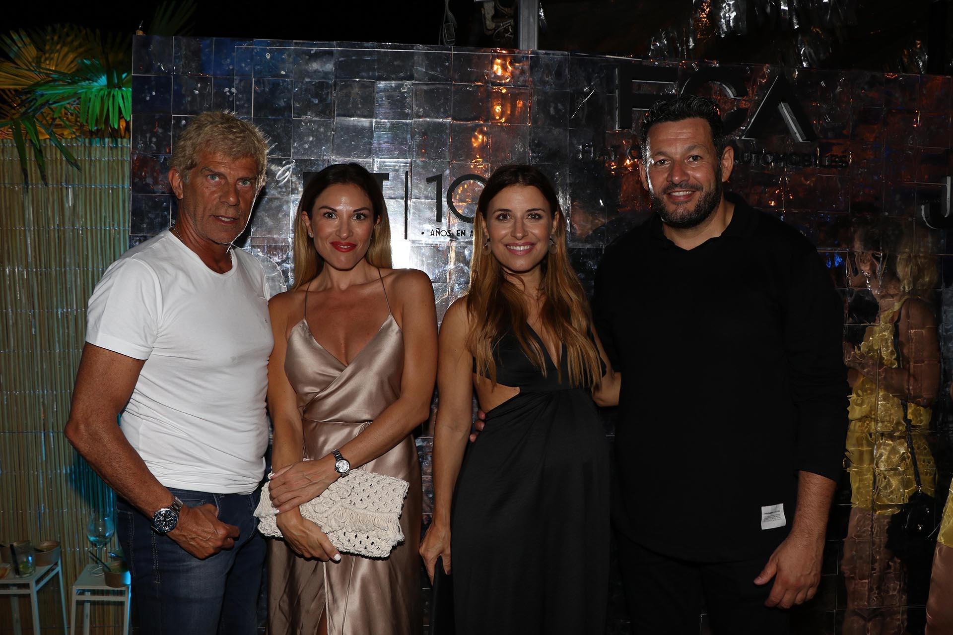 Cacho Fernández y Yamila Mora junto a Pablo Melillo y Mariana Brey