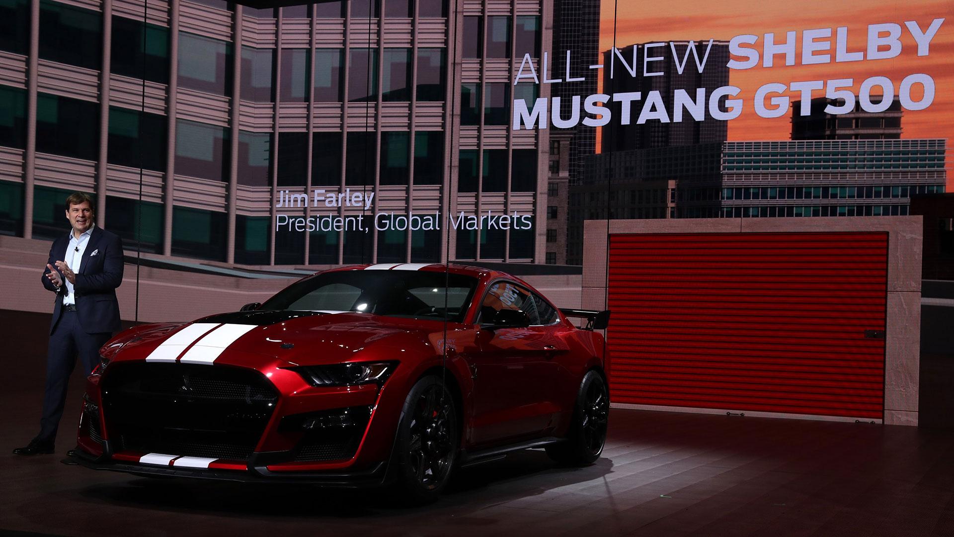 El Ford Mustang Shelby GT500 2020 en el Salón Internacional del Automóvil de Norteamérica en Detroit, Michigan, EE.UU., el 14 de enero de 2019. (Reuters)