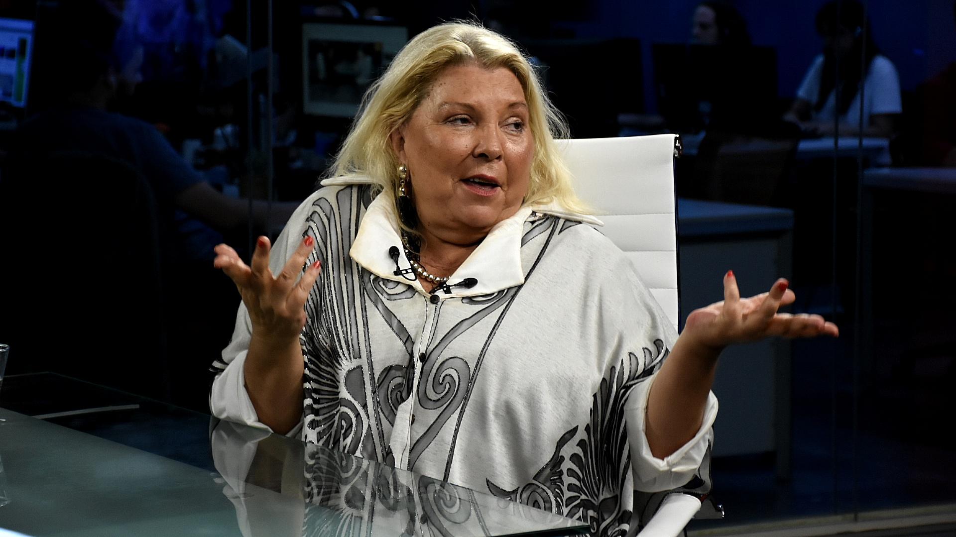 La diputada Elisa Carrió fue acusada por el dirigente K Eduardo Valdés(Nicolás Stulberg)