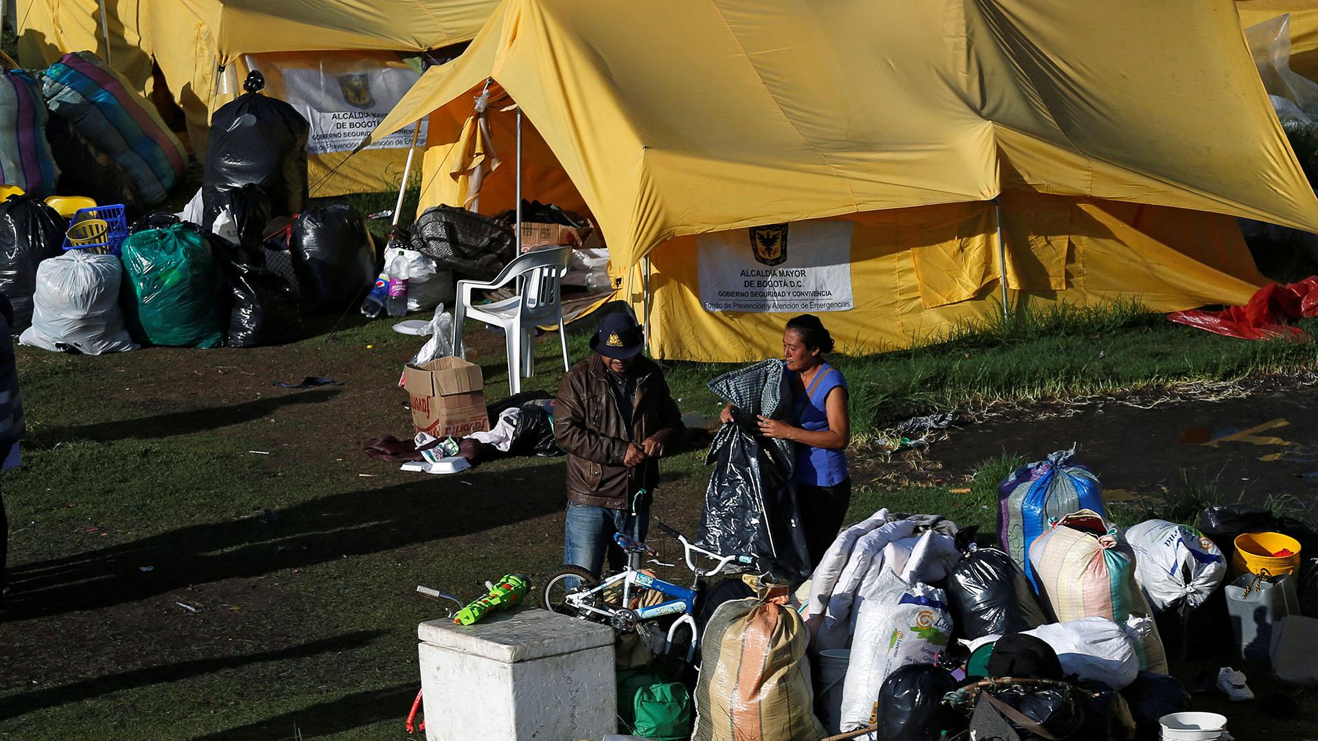 La Alcaldía de Bogotá desalojó a los últimos 83 migrantes venezolanos que residían en un campamento (REUTERS/Luisa Gonzalez)