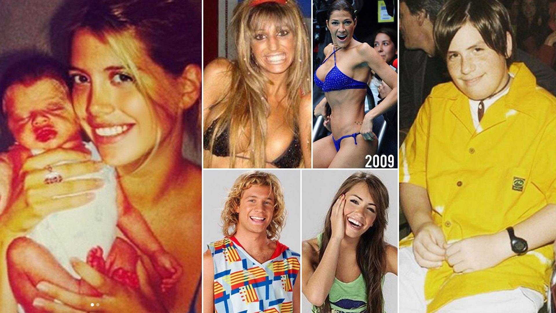 """Wanda Nara, Vicky Xipolitakis, Fede Bal, Lali Espósito, Nico Riera, entre otros famosos, se sumaron al """"10 years challenge"""", un desafío viral que tuvo éxito en las redes sociales"""