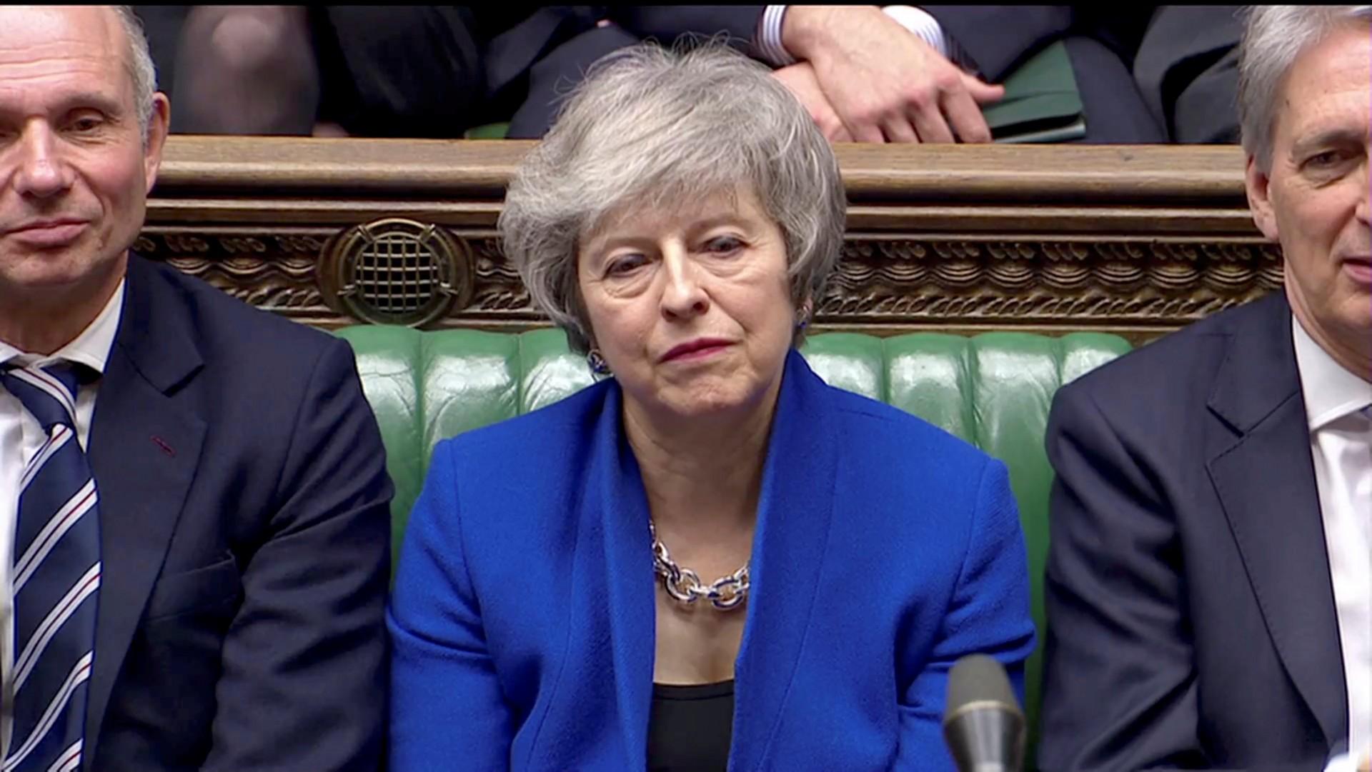La primera ministra británica Theresa May, quien asumió poco después del referéndum del Brexit, ha sufrido dos duros rechazos en el parlamento (Reuters)