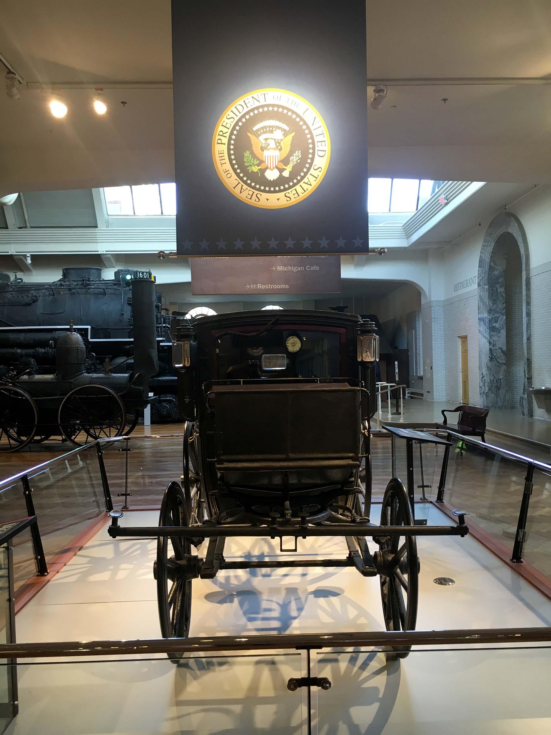 El Brougham, utilizado por Theodore Roosevelt (Infobae)