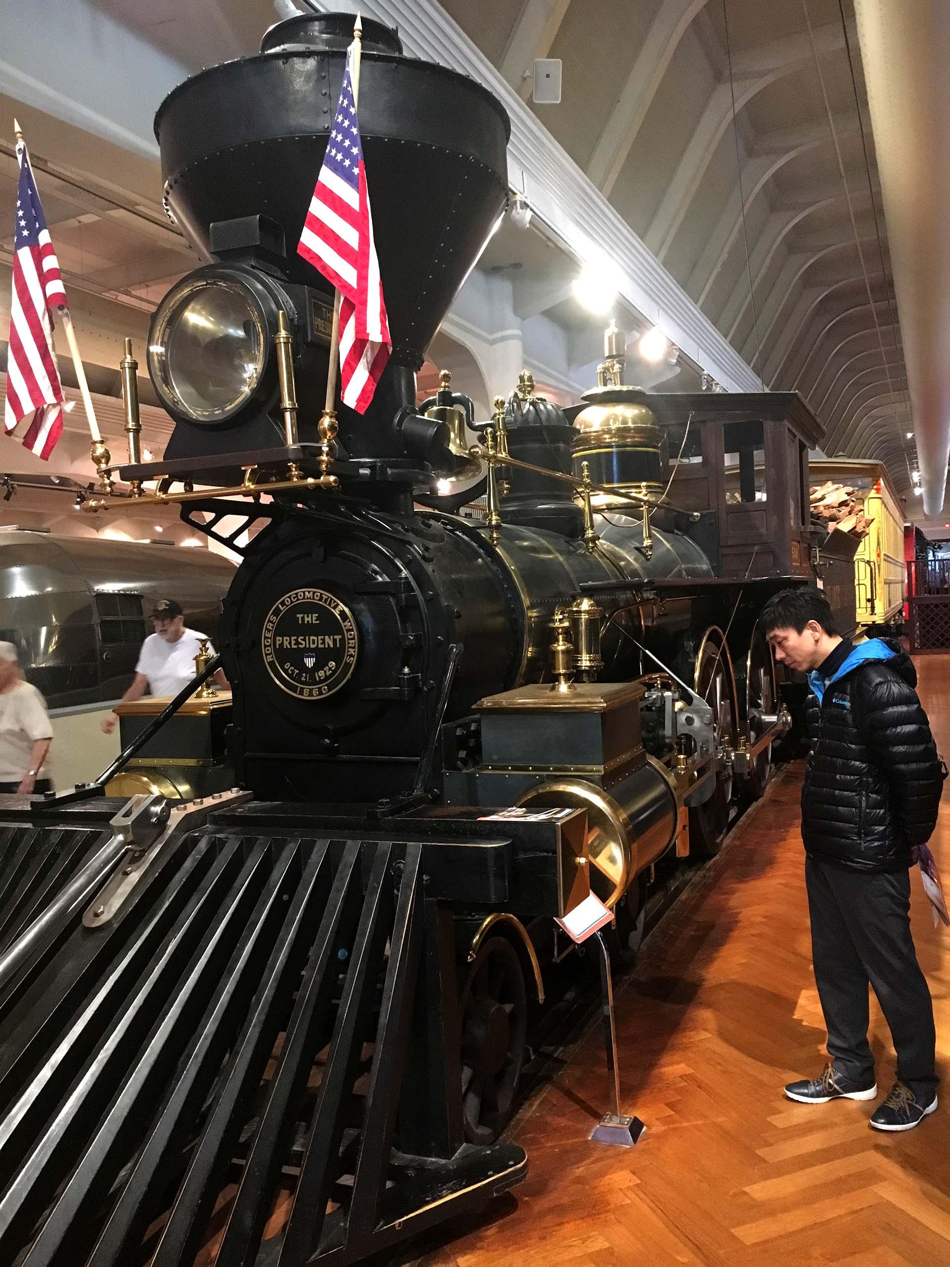 The President, la locomotora que trasladaba a mandatarios norteamericanos (Infobae)