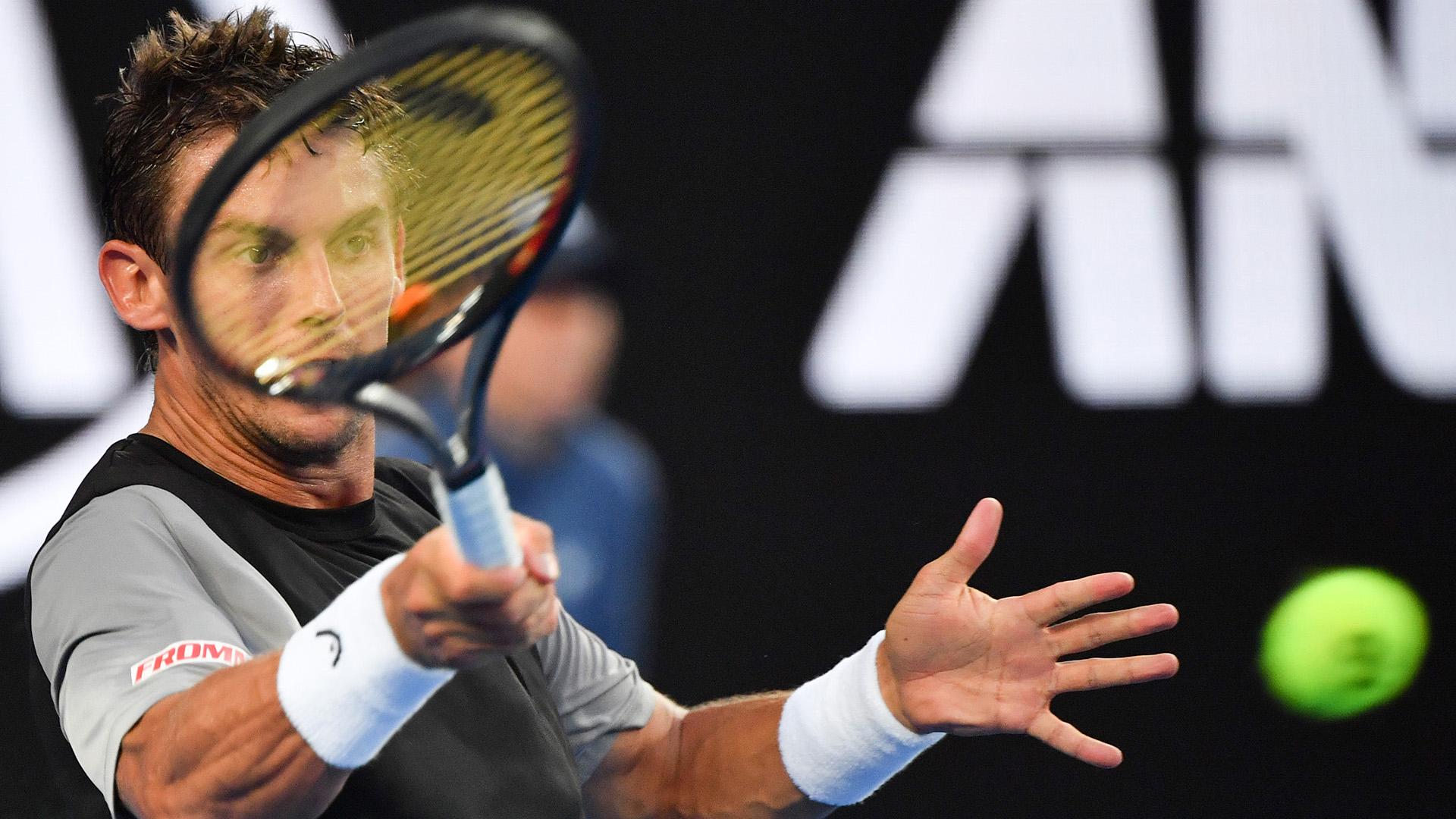 El suizo Henri Laaksonen no pudo con Alex De Miñaur y cayó por 6-4, 6-2, 6-7 (7/9), 4-6, 6-3