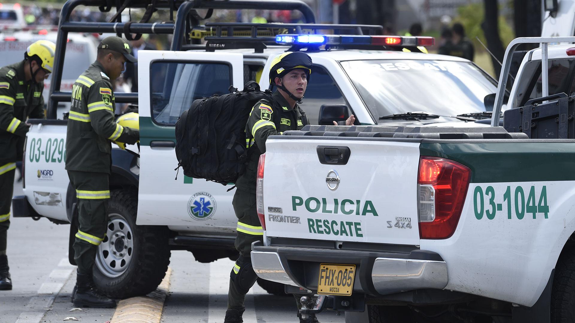 Los policías llegaron rápidamente al lugar (AFP)