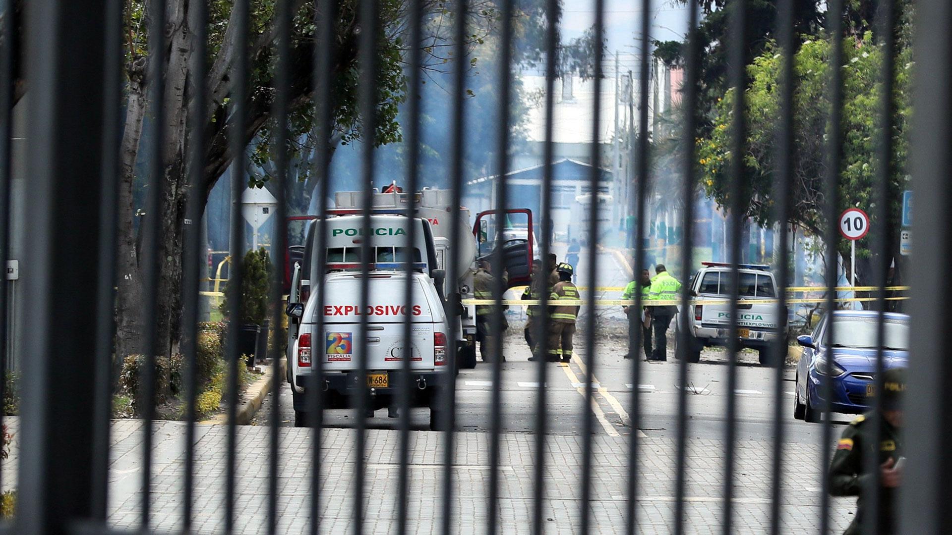 Cerraron las vías de acceso a la zona para prevenir otro atentado (EFE)