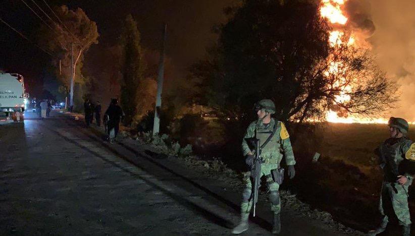 El Ejército llegó a la zona del incendio para aplica el Plan DNIII (Foto: Sedena)