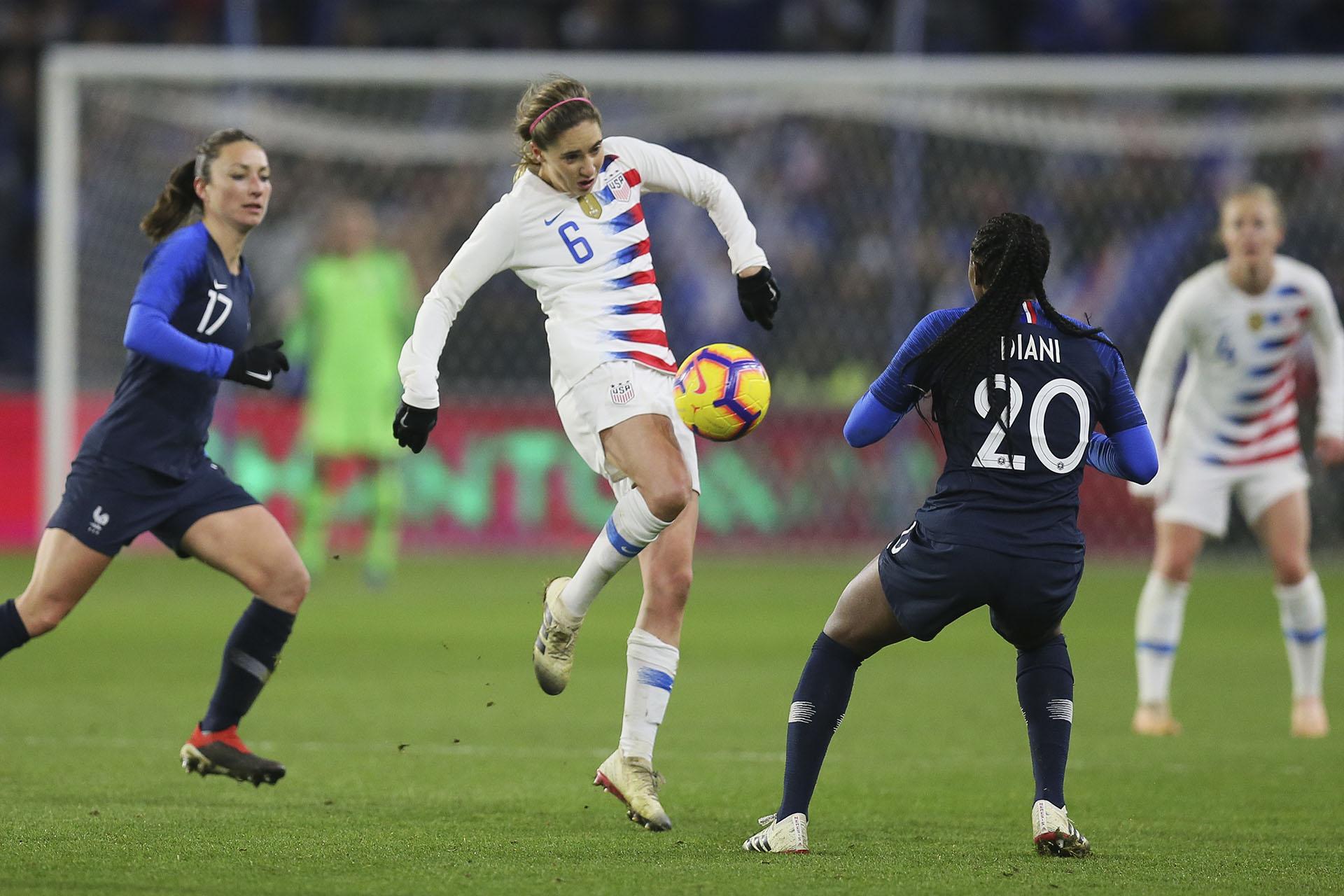 Estados Unidos sintió las bajas de figuras como Megan Rapinoe, Tobin Heath, Casey Short, Julie Ertz y Kelley O'Hara (AP)