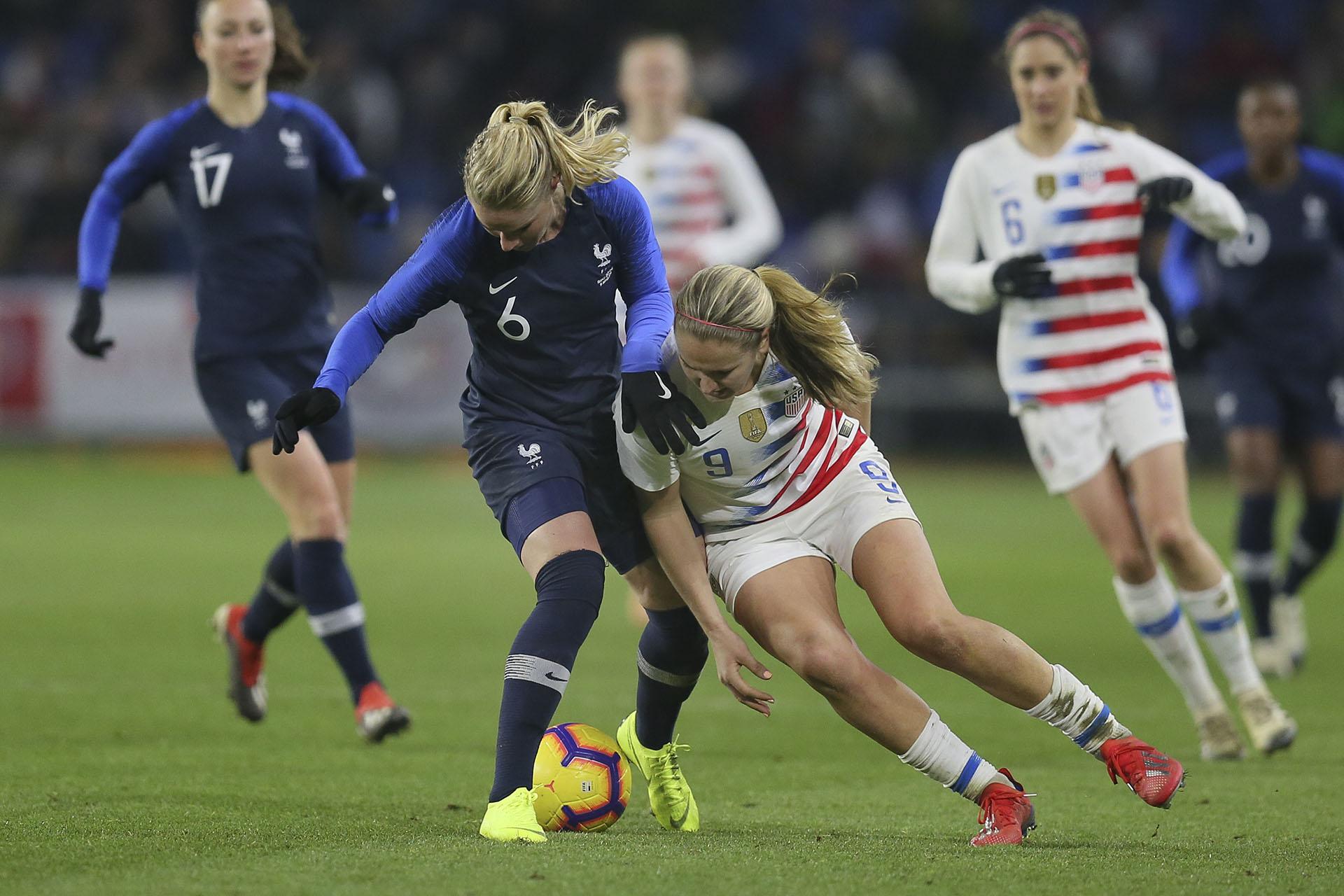 Francia y Estados Unidos jugaron un amistoso en el marco de la Fecha FIFA (AP)