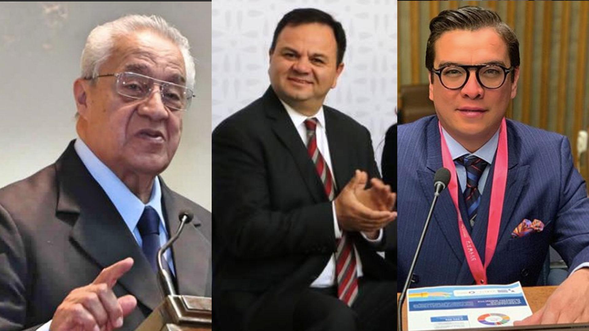 Los tres candidatos para gobernador interino de Puebla (Fotos: Twitter)