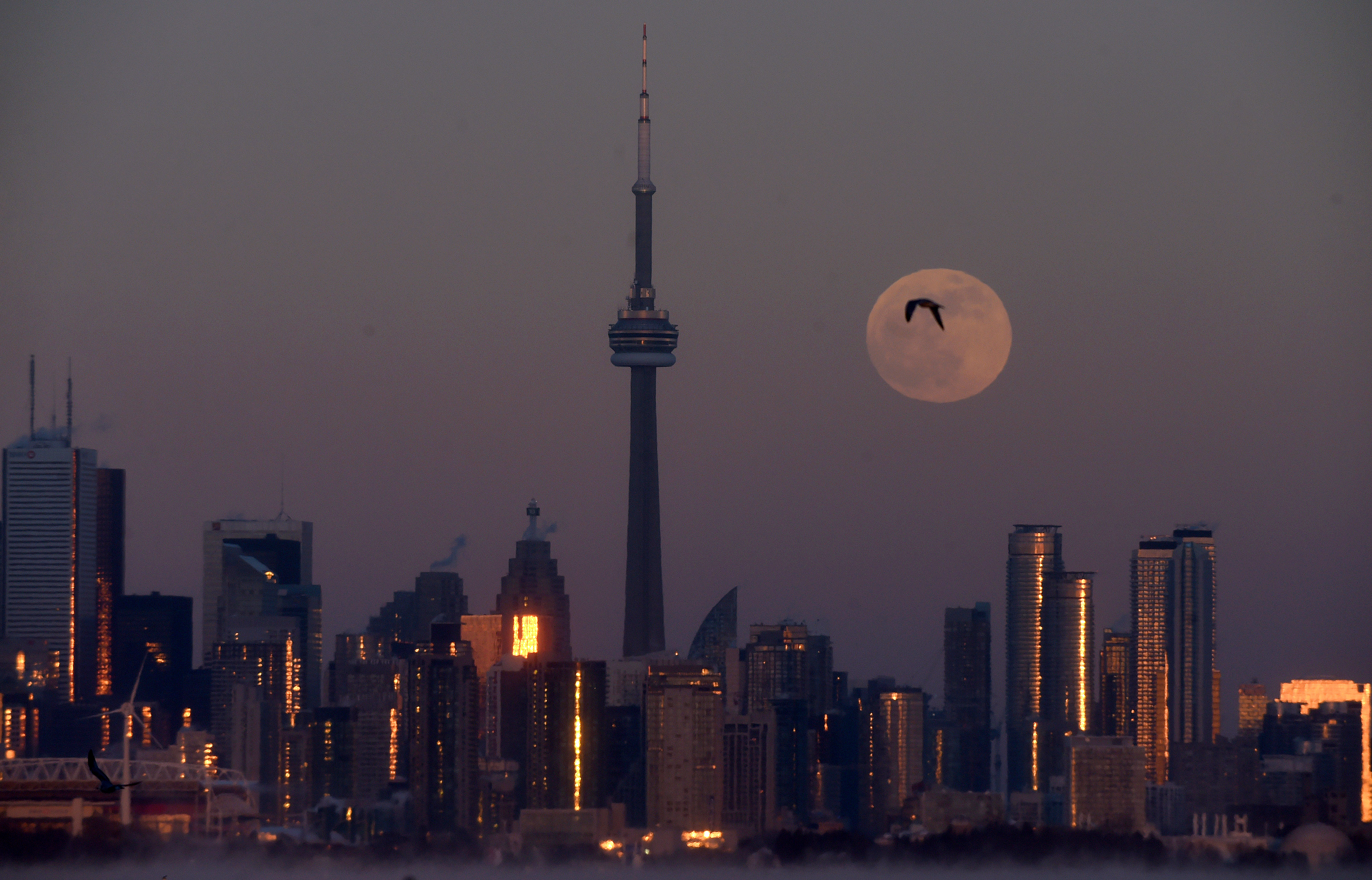 La luna en Toronto, Ontario, (Dan Hamilton-USA TODAY Sports)