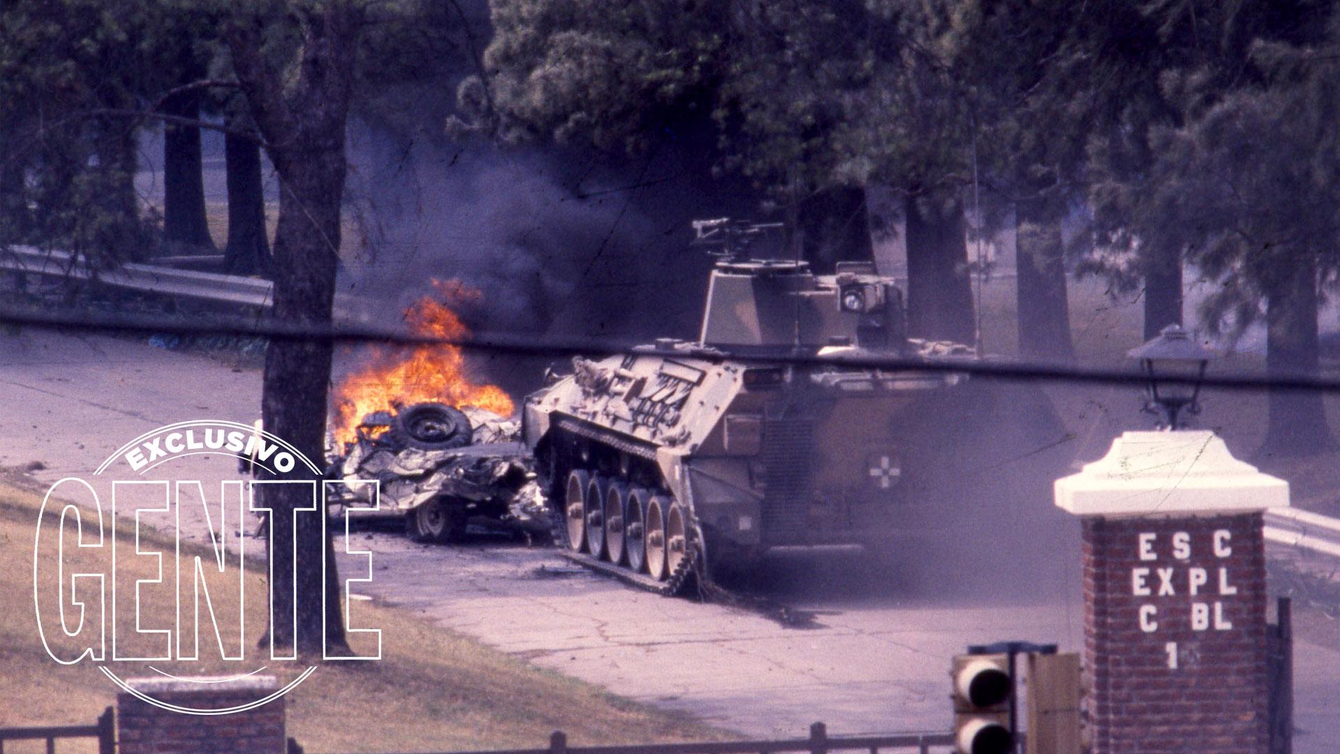 El Puesto 1 del Regimiento. Por allí se produjo el copamiento. Por allí ingresaron los tanques.