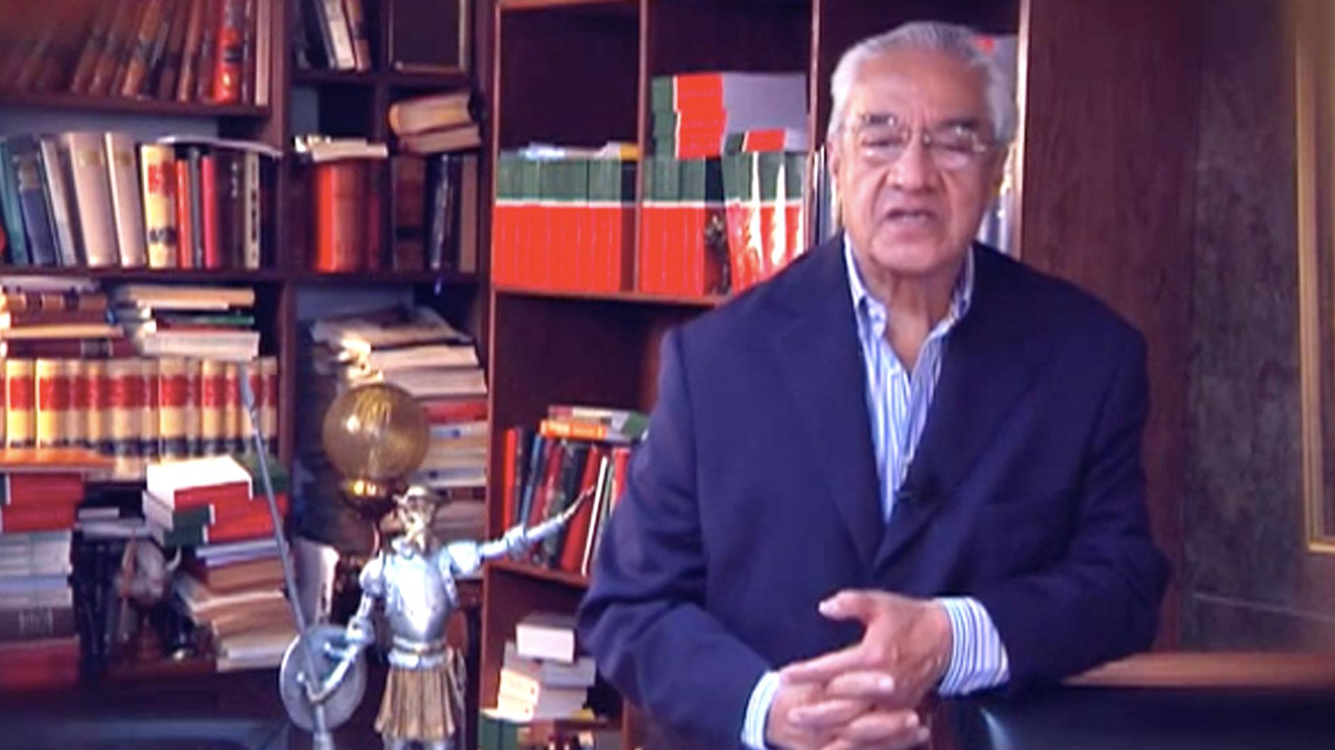 Guillermo Pacheco, el único a ser votado por el Pleno para ser gobernador interino de Puebla (Foto: Youtube canalPuebla)
