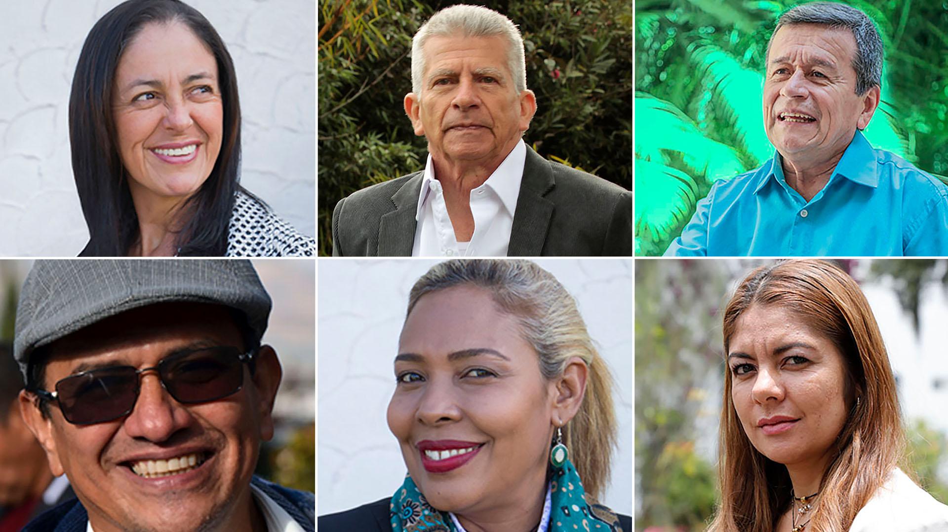 Estos sonalgunos de los diez delegados del ELN en la mesa de negociación de La Habana que tienen órdenes de captura.