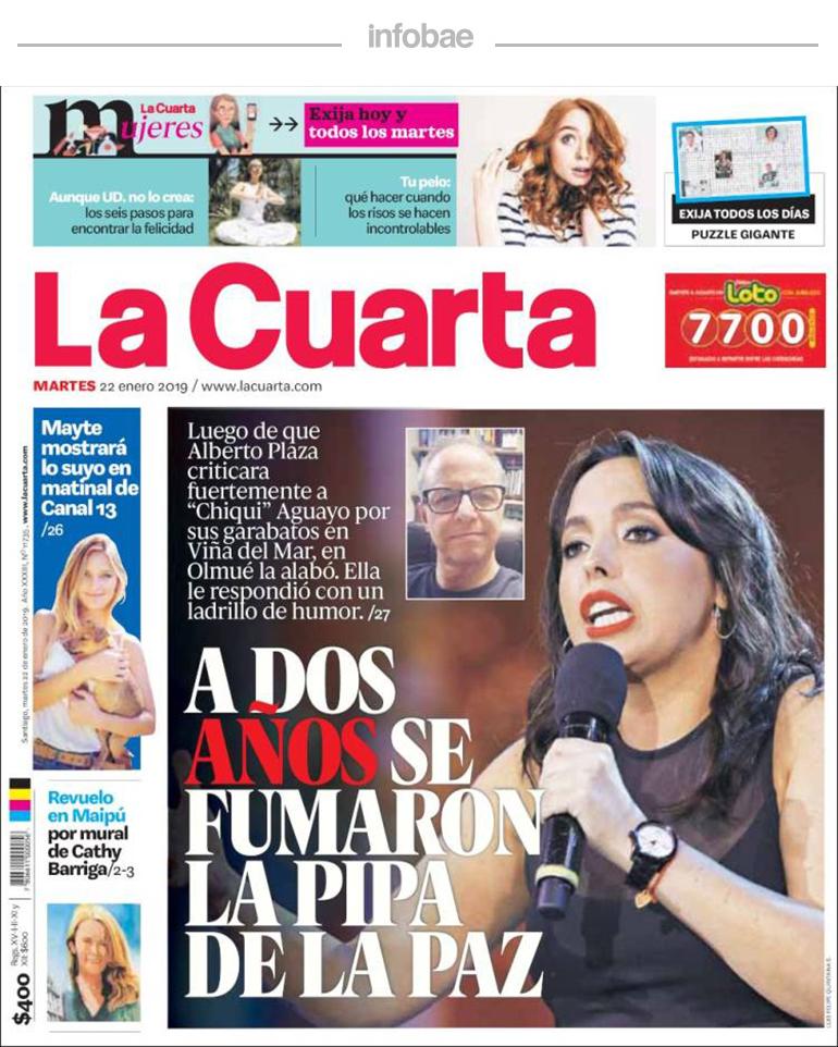 La Cuarta, Chile, Miércoles 23 de enero de 2019 | Perfil Formosa