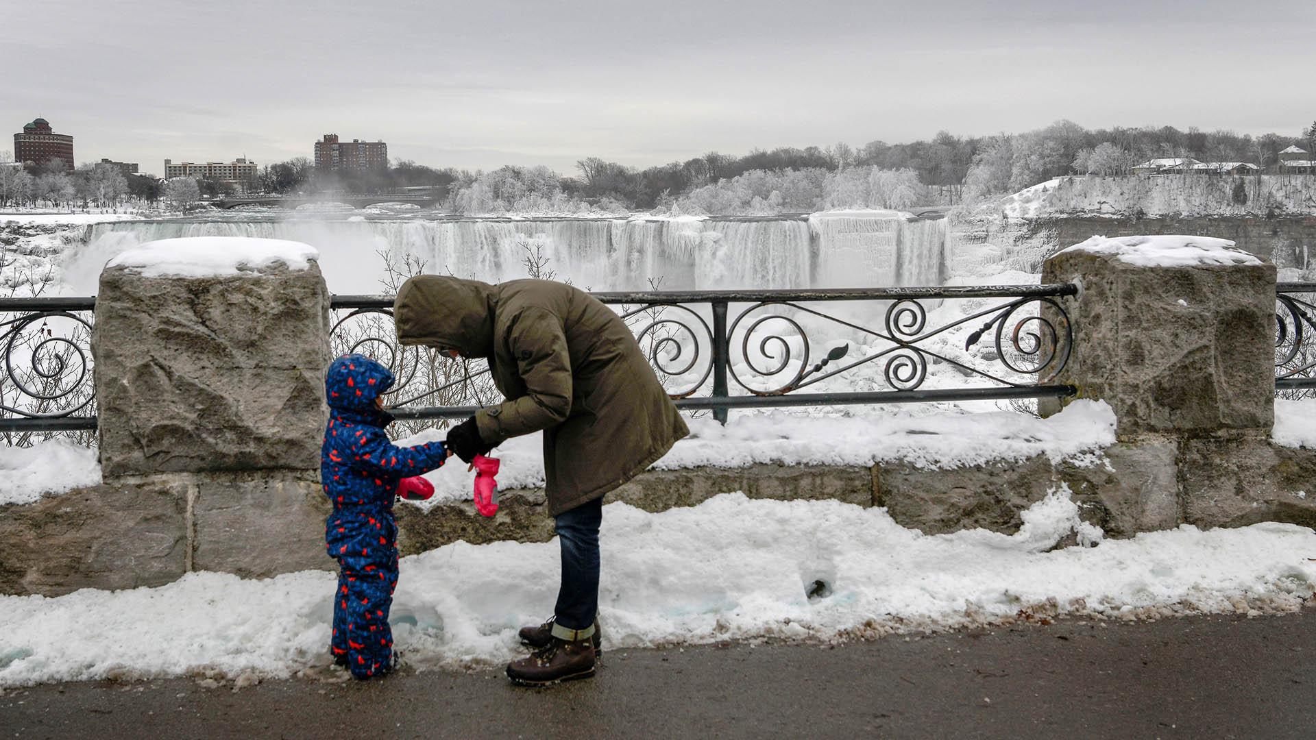 Los visitantes deben extremar las medidas para protegerse del frío