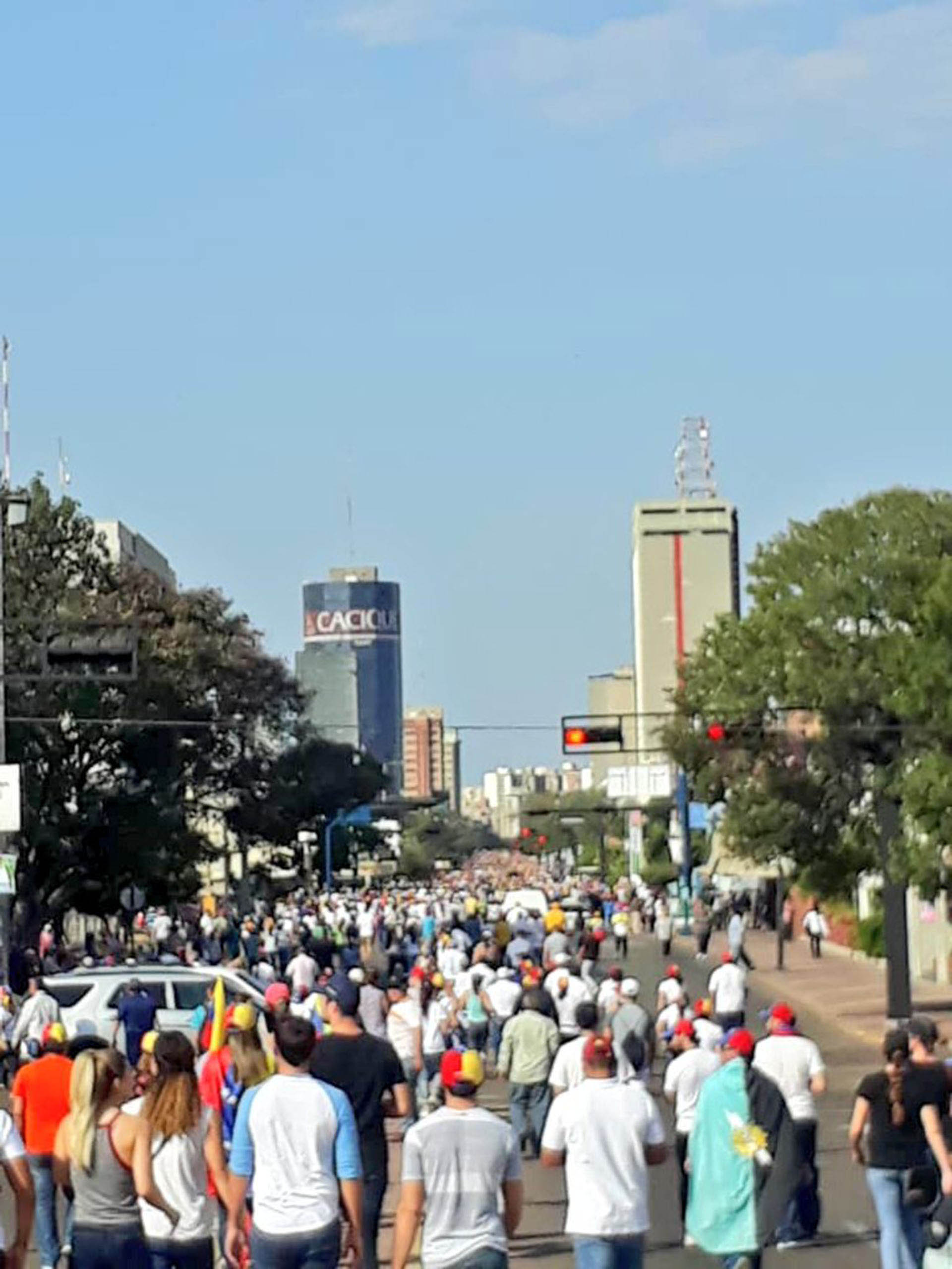 La movilización en Maracaibo